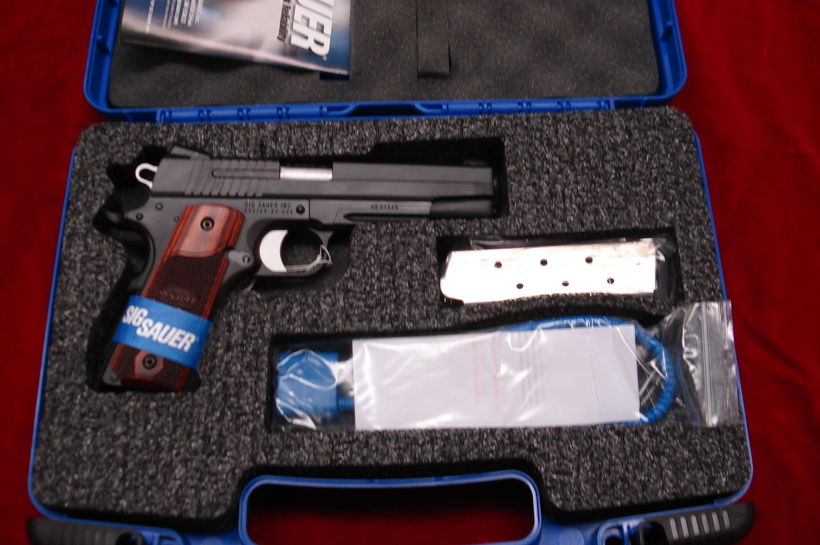 SIG SAUER 1911 WITH TAC RAIL AND NIGHT SIGHTS NEW   Guns > Pistols > Sig - Sauer/Sigarms Pistols > 1911