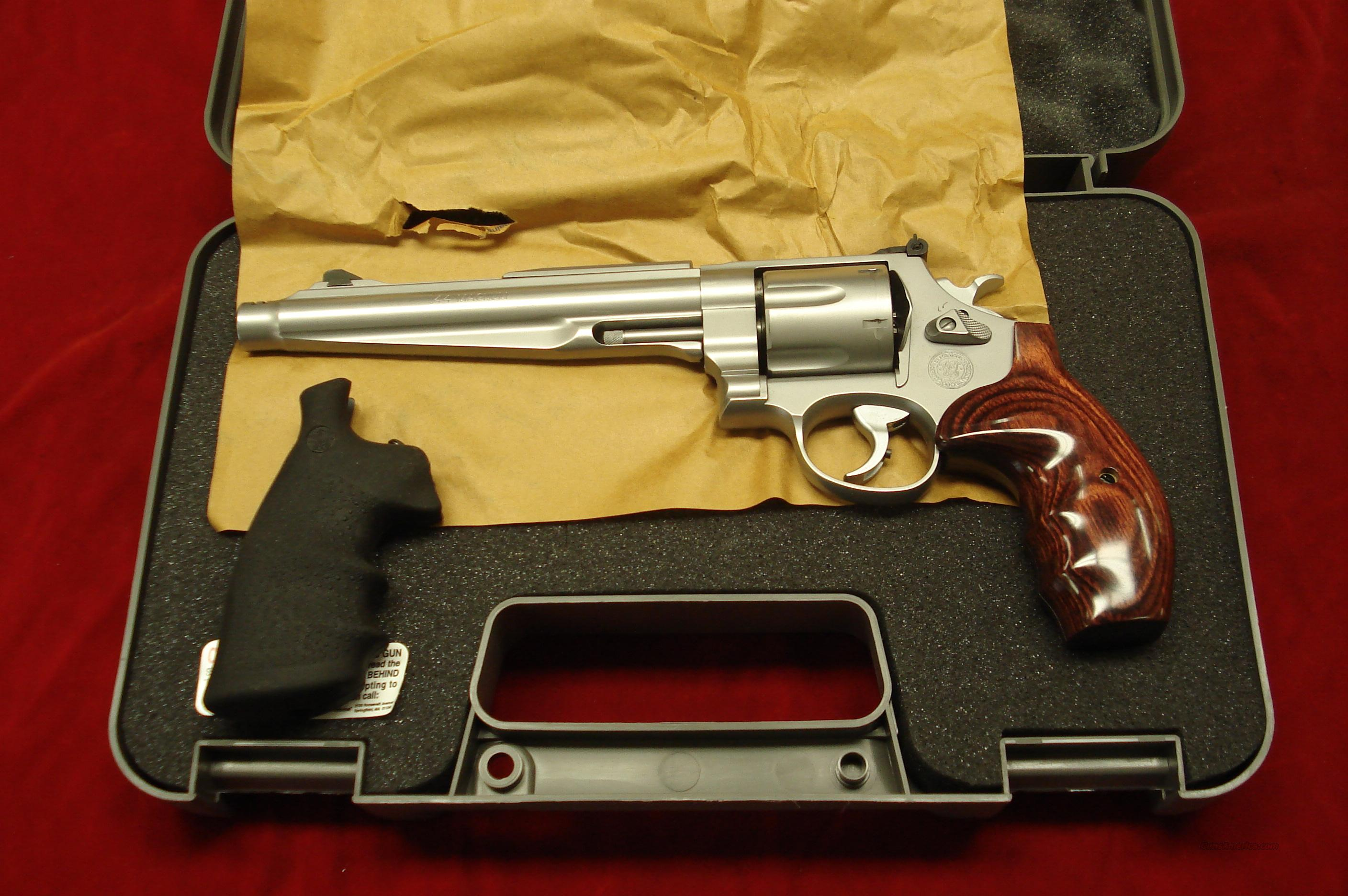 "SMITH AND WESSON PERFORMANCE CENTER 44 MAGNUM 7.5"" COMPENSATED STAINLESS NEW   Guns > Pistols > Smith & Wesson Revolvers > Performance Center"