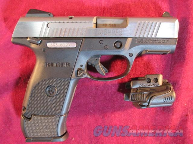 RUGER SR 40 COMPACT STAINLESS WITH CRIMSON TRACE LIGHT USED  Guns > Pistols > Ruger Semi-Auto Pistols > SR9 & SR40