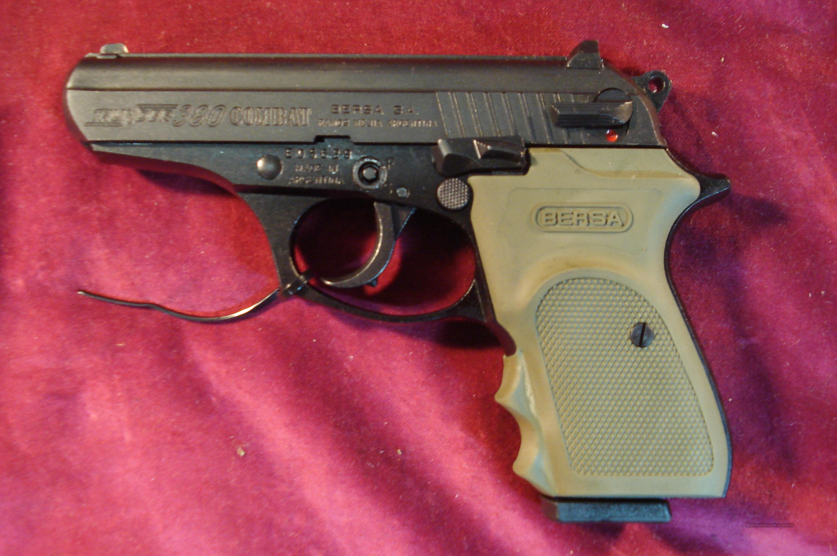 BERSA THUNDER COMBAT 380 CAL GREEN RUBBER WRAP AROUND GRIPS NEW   Guns > Pistols > Bersa Pistols