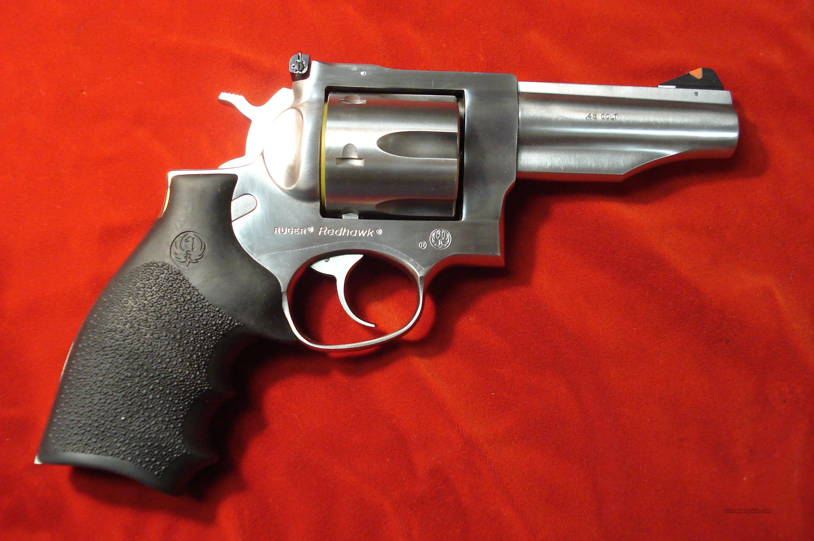"RUGER NEW MODEL REDHAWK .45COLT 4"" STAINLESS   Guns > Pistols > Ruger Double Action Revolver > Redhawk Type"