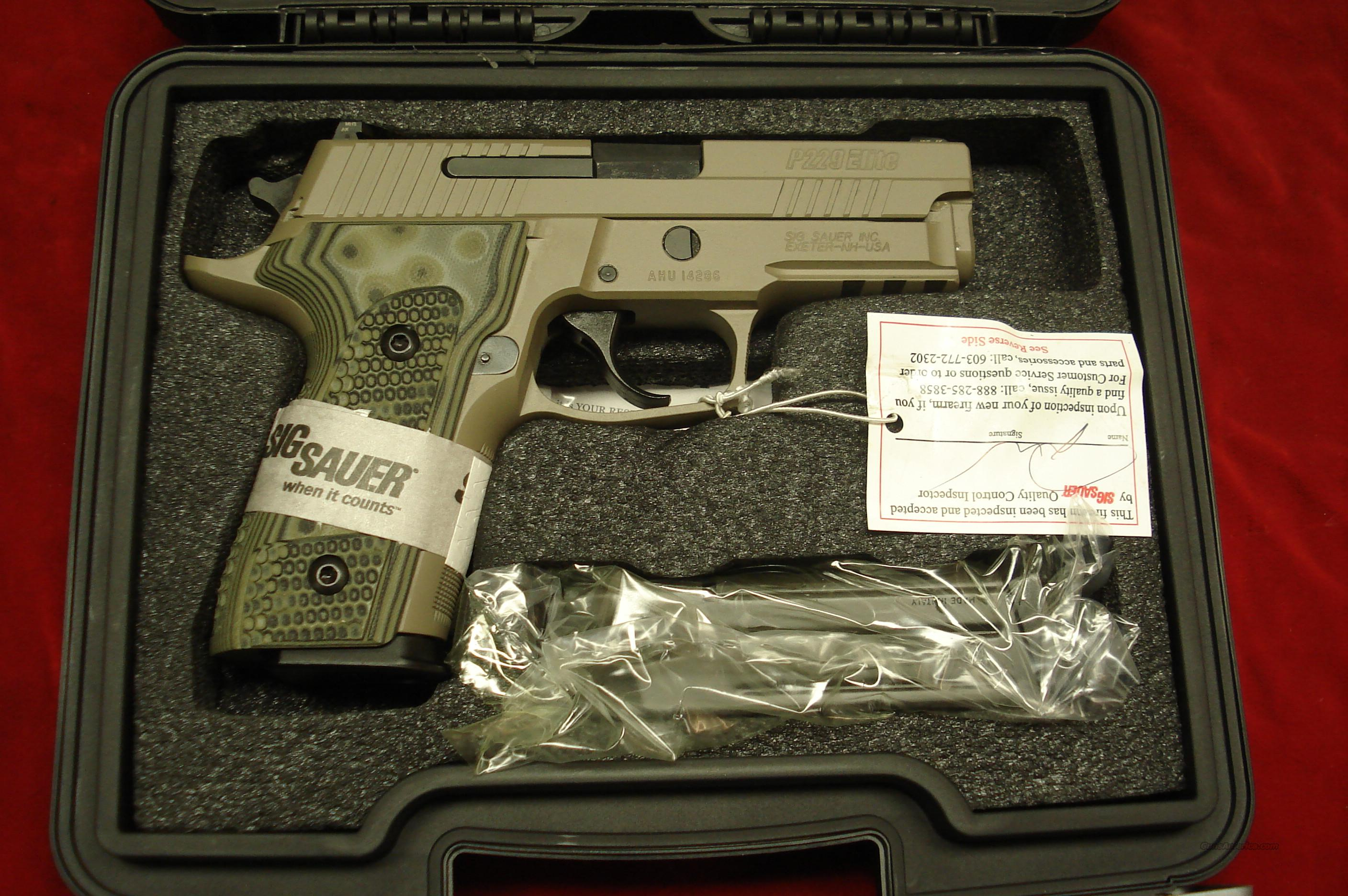 SIG SAUER P229 SCORPION ELITE 9MM  FLAT DARK EARTH WITH NIGHT SIGHTS NEW   Guns > Pistols > Sig - Sauer/Sigarms Pistols > P229