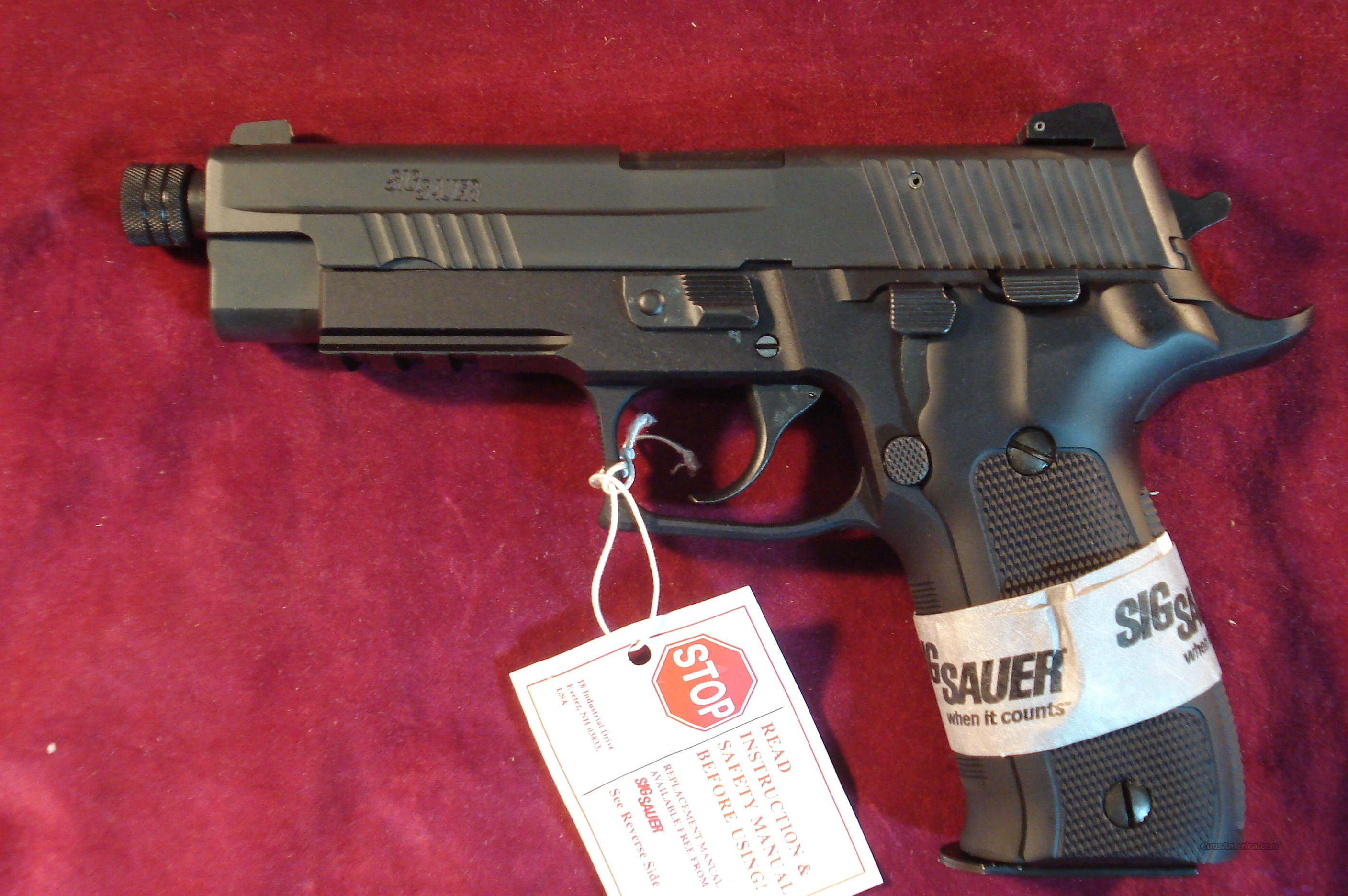 SIG SAUER P226 9MM THREADED BARREL BLACK FINISH NEW  Guns > Pistols > Sig - Sauer/Sigarms Pistols > P226