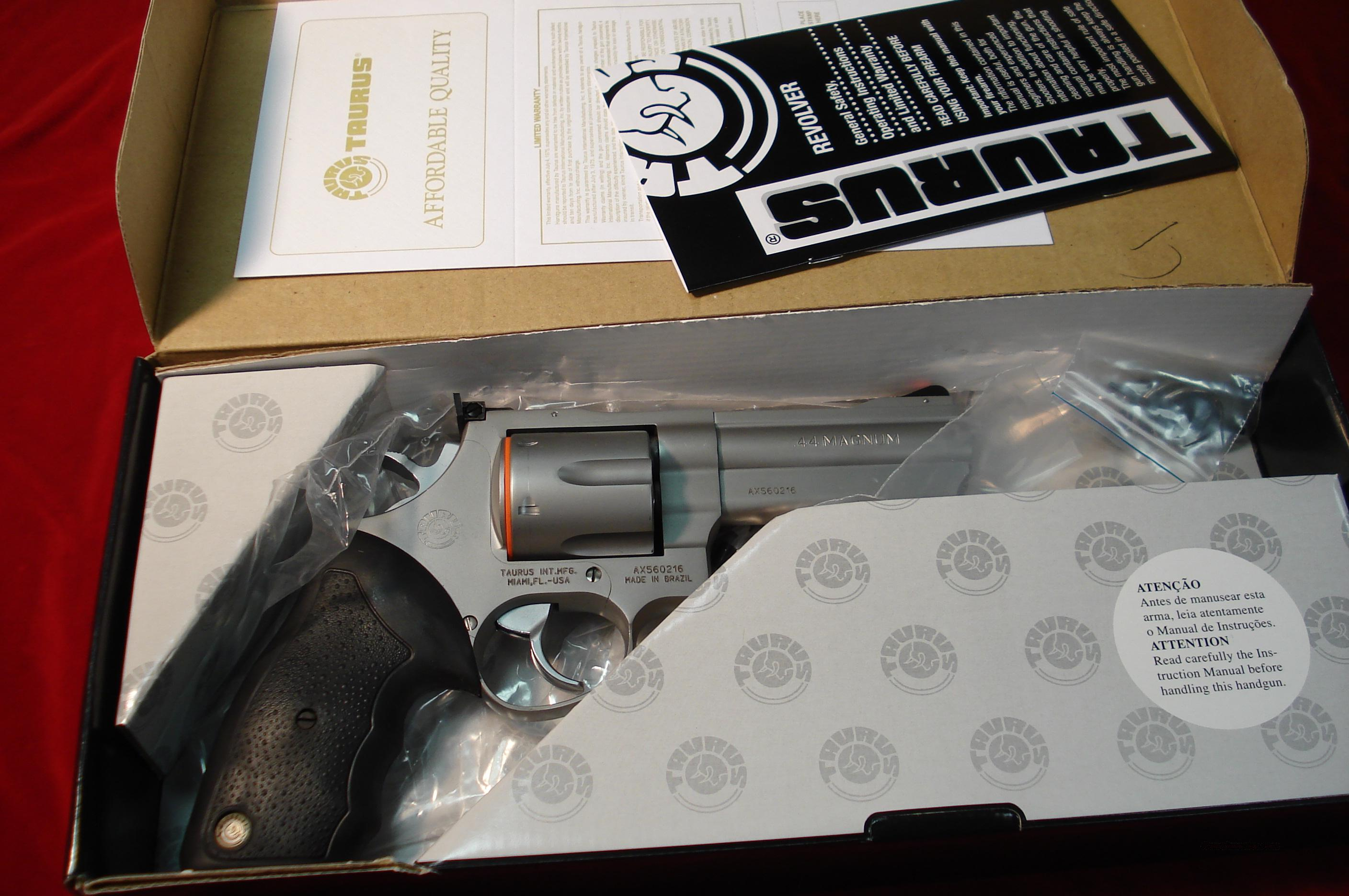 "TAURUS #44CP STAINLESS PORTED 4""  44MAG. NEW   Guns > Pistols > Taurus Pistols/Revolvers > Revolvers"