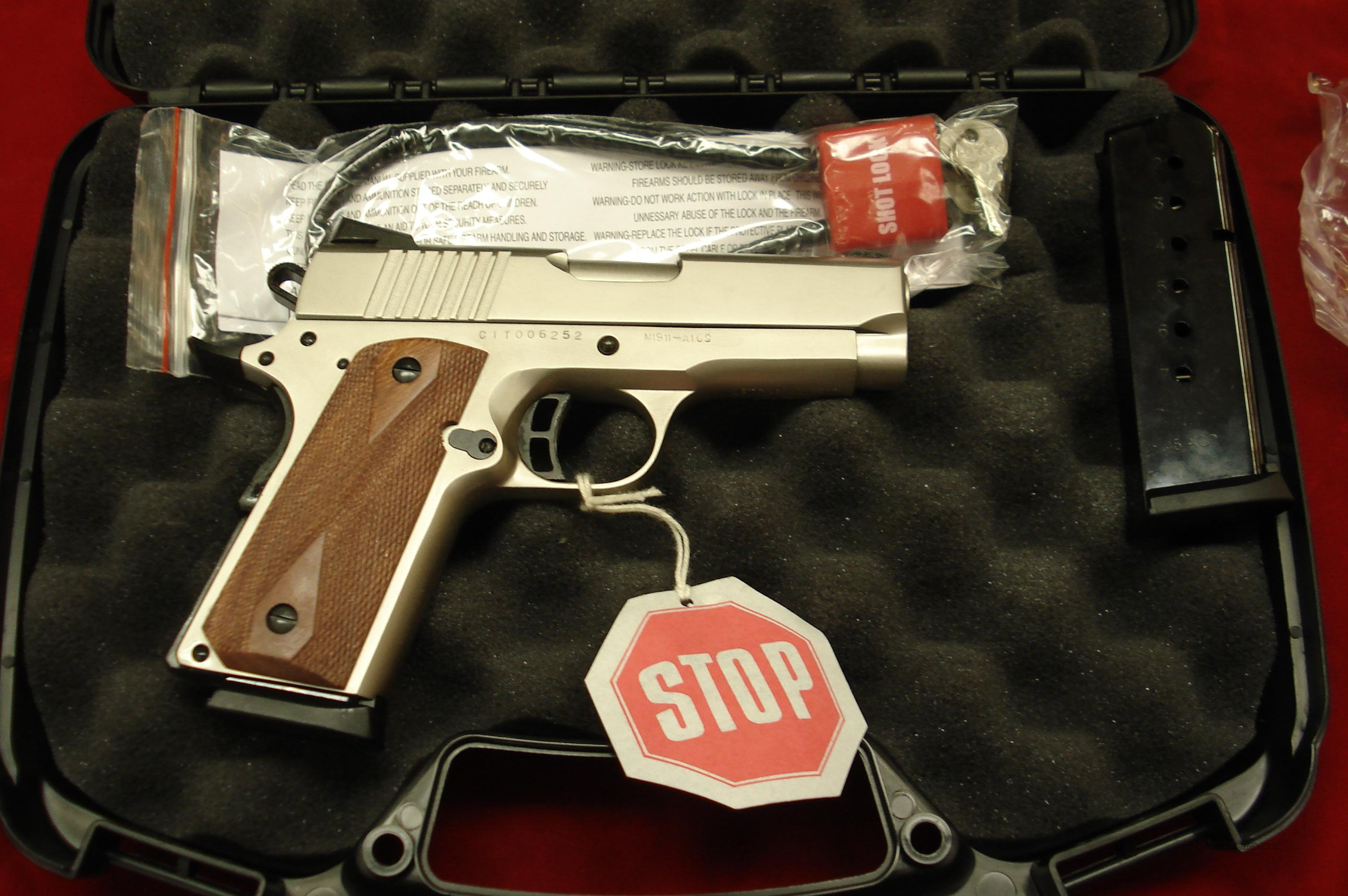 ARMSCOR PRECISION CITADEL COMPACT 45ACP MATTE NICKEL NEW  Guns > Pistols > 1911 Pistol Copies (non-Colt)