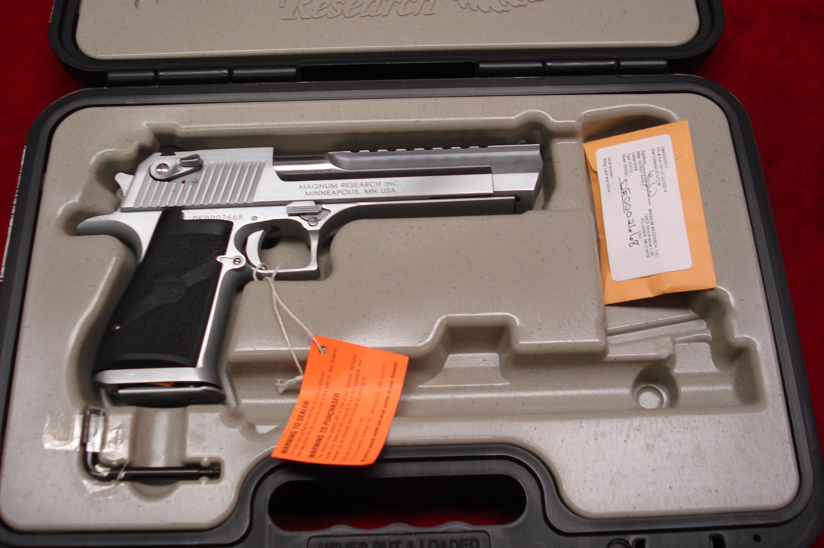 "MAGNUM RESEARCH DESERT EAGLE 50AE 6"" BRUSHED CHROME NEW   Guns > Pistols > Desert Eagle/IMI Pistols > Desert Eagle"