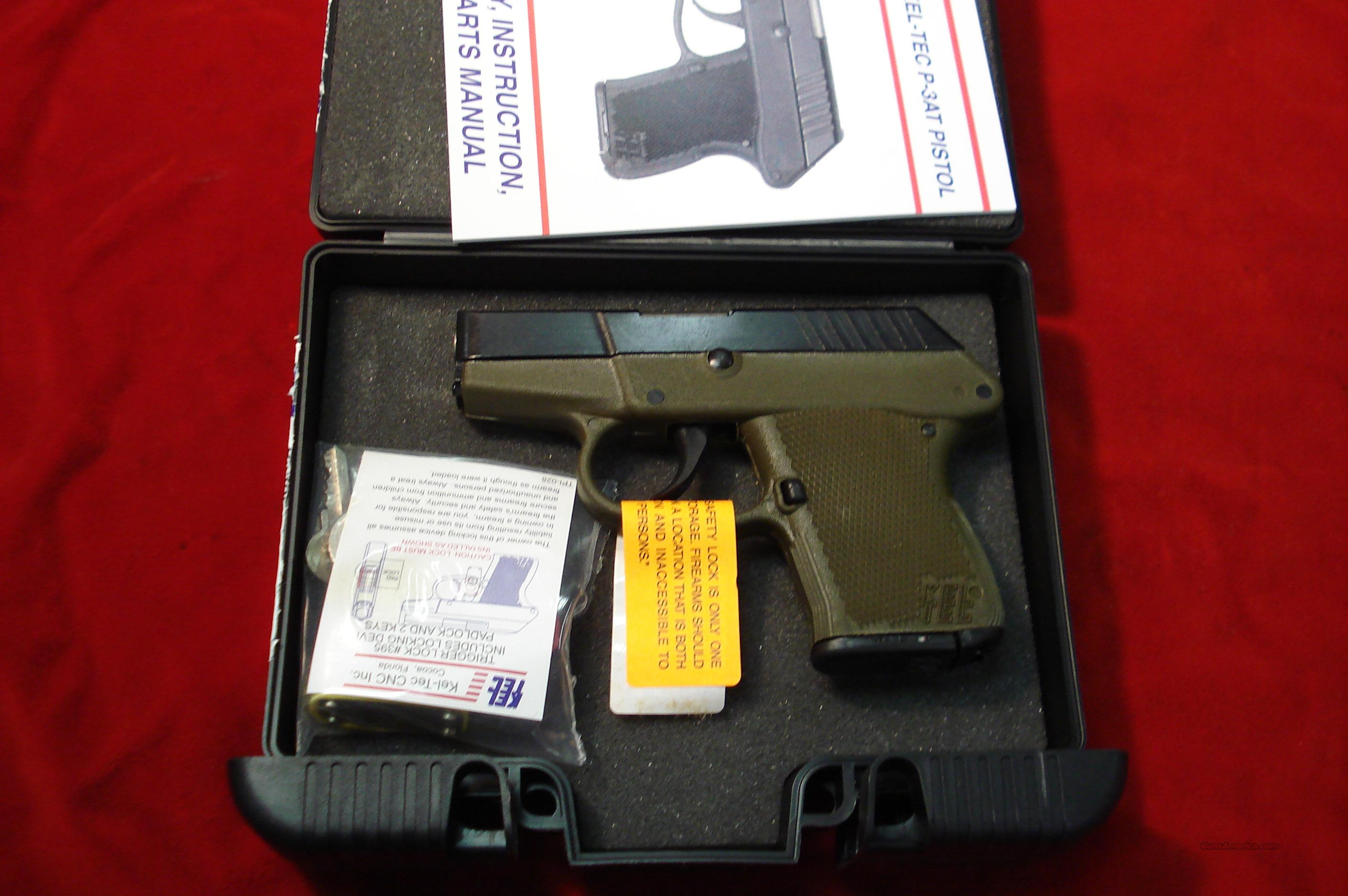 KEL-TEC P3AT GREEN FRAME NEW  Guns > Pistols > Kel-Tec Pistols > Pocket Pistol Type