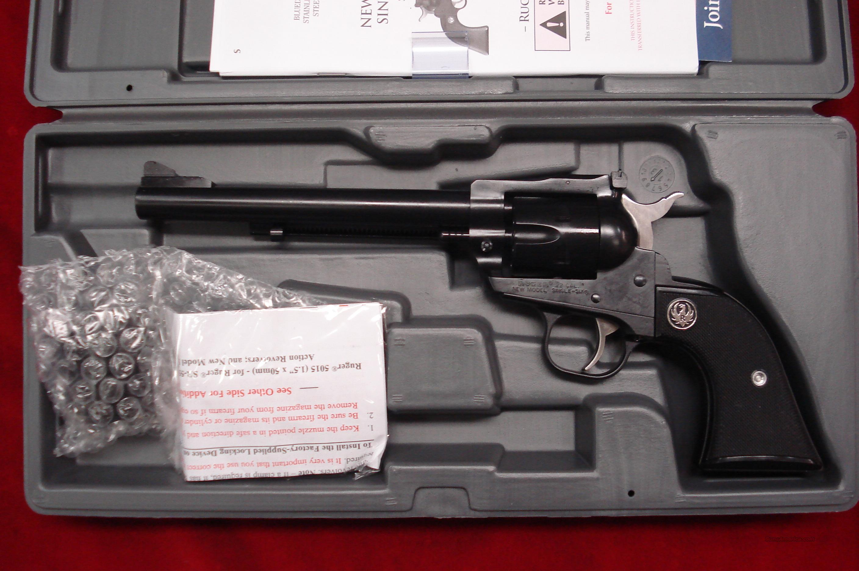 "RUGER SINGLE SIX CONVERTABLE 22LR/ 22MAG BLUED 6.5"" NEW (NR-6)  Guns > Pistols > Ruger Single Action Revolvers > Single Six Type"