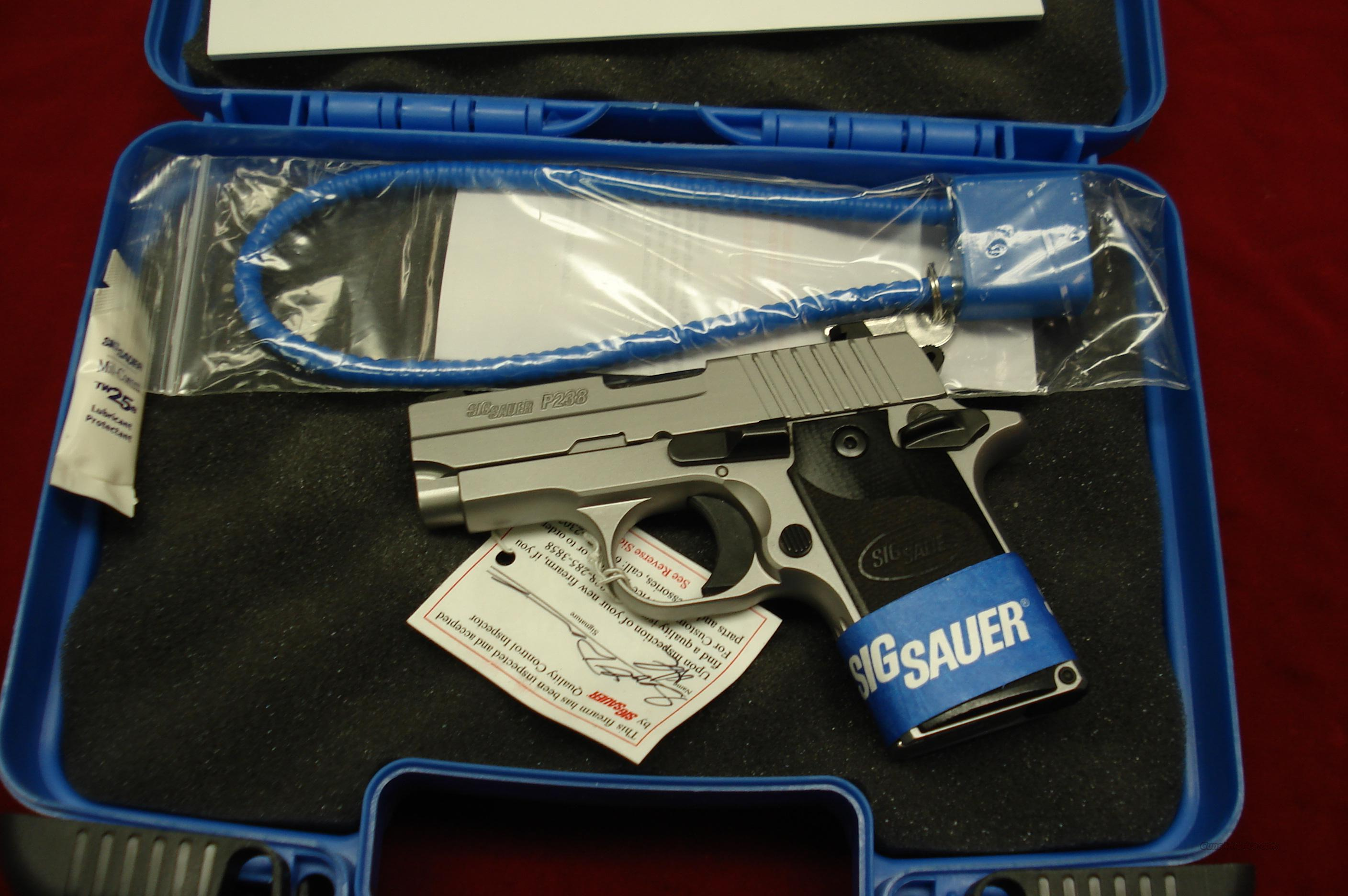 SIG P238 STAINLESS  380CAL. NIGHT SIGHTS NEW  Guns > Pistols > Sig - Sauer/Sigarms Pistols > Other
