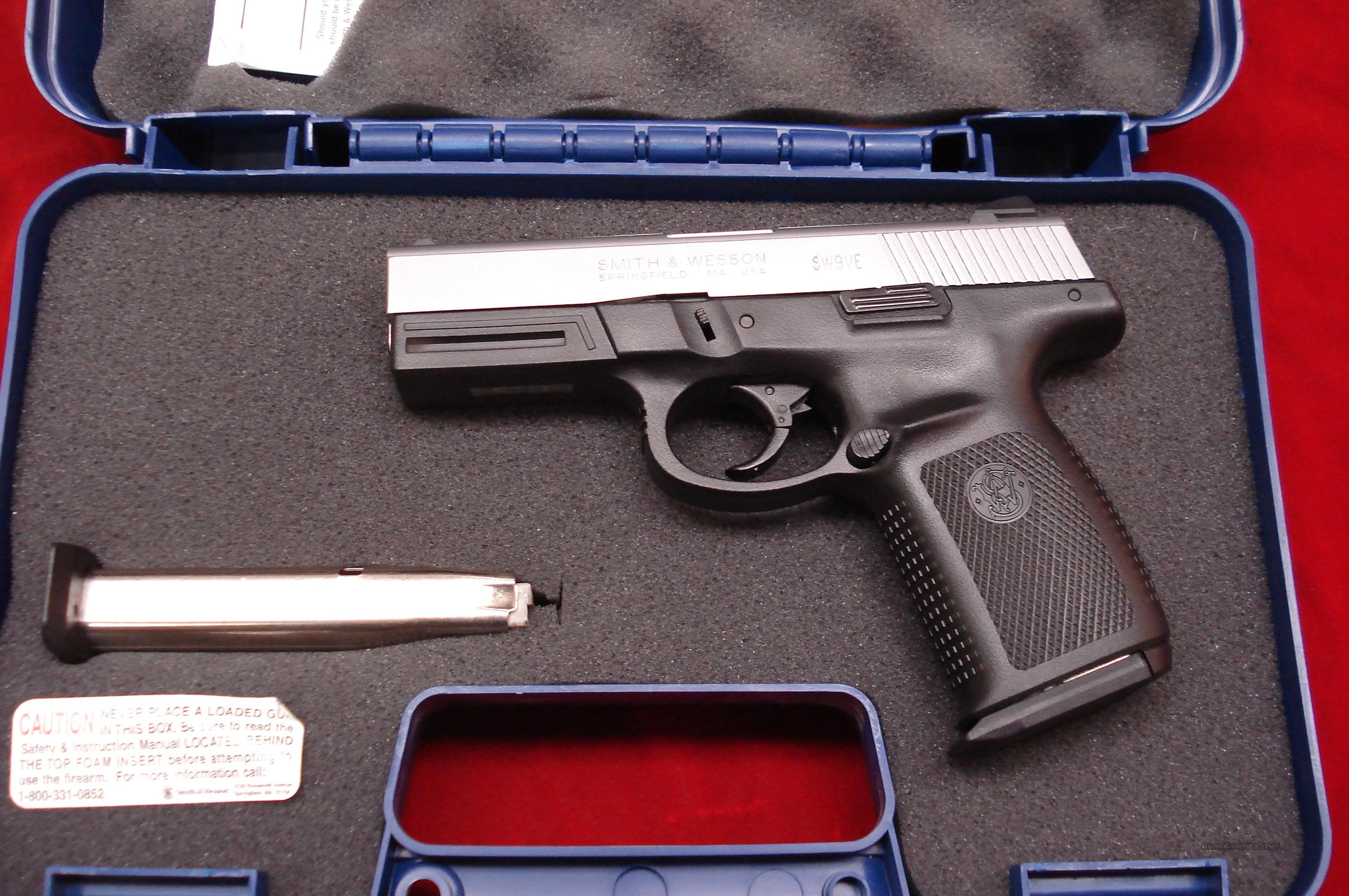 SMITH AND WESSON SIGMA STAINLESS 9MM HIGH CAPACITY LNIB   Guns > Pistols > Smith & Wesson Pistols - Autos > Polymer Frame