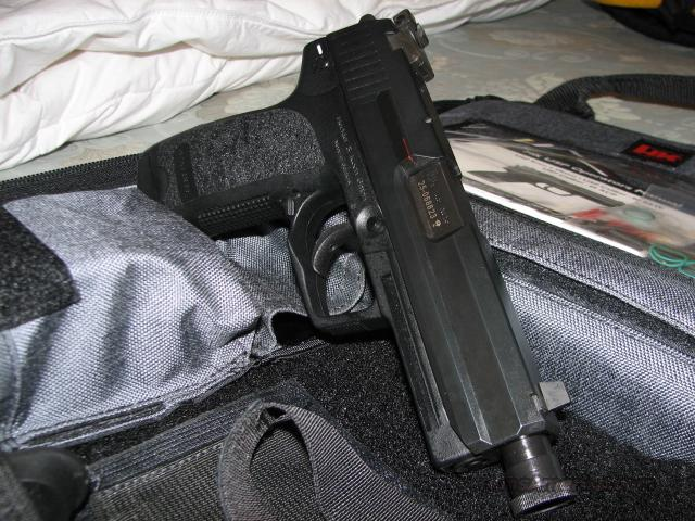 HK USP 45 Tactical w/factory Night Sights  Guns > Pistols > Heckler & Koch Pistols > Polymer Frame