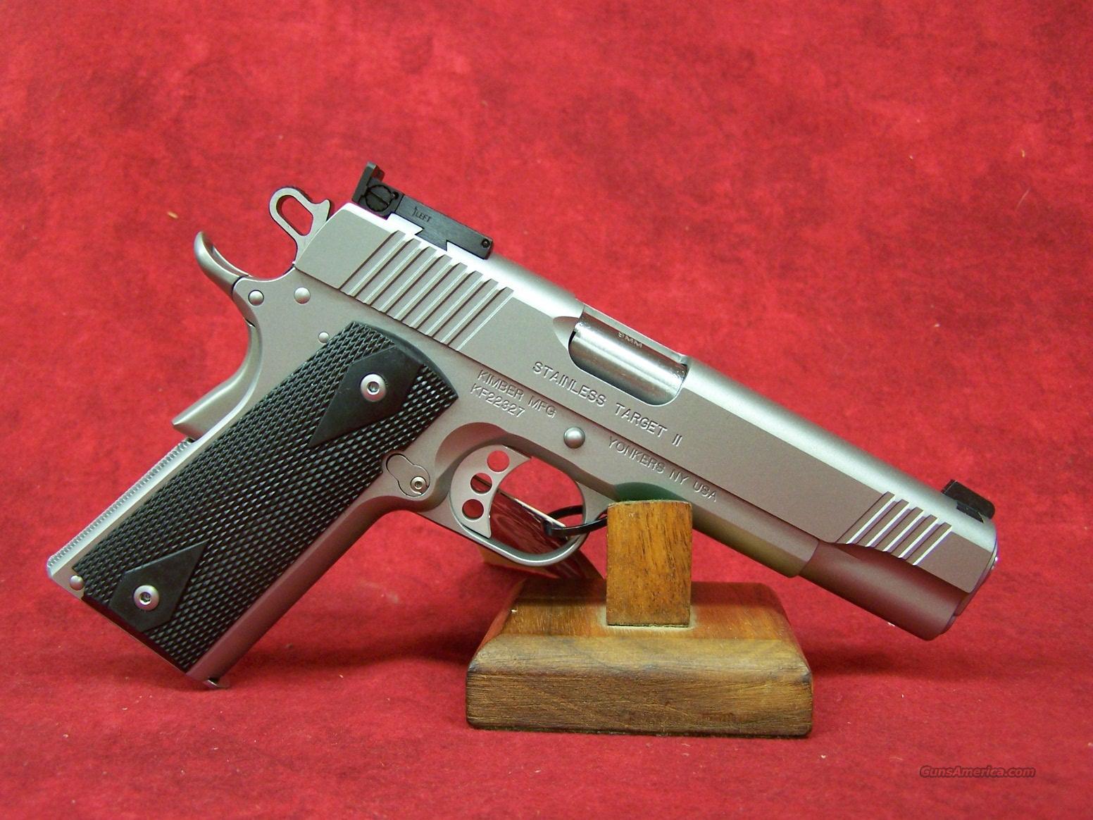 Kimber Stainless Target II 9mm (32108)  Guns > Pistols > Kimber of America Pistols