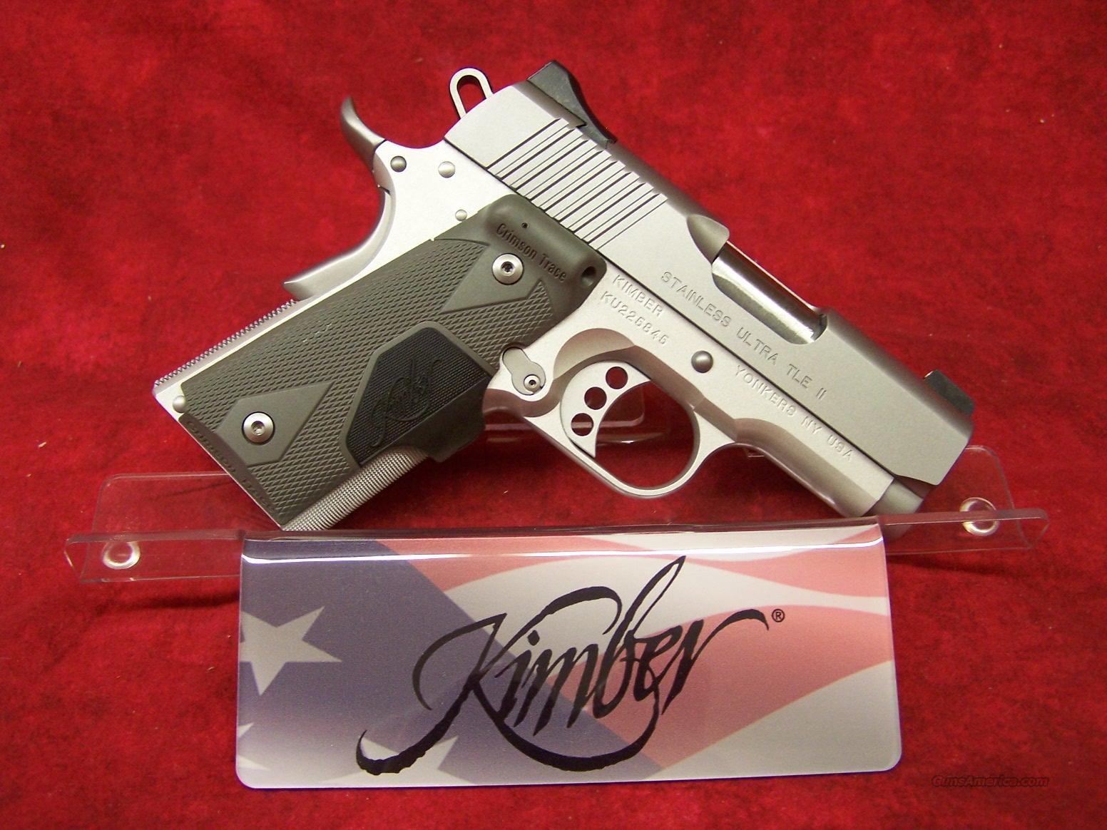 Kimber Stainless Ultra TLE II (LG) .45ACP (32244)  Guns > Pistols > Kimber of America Pistols