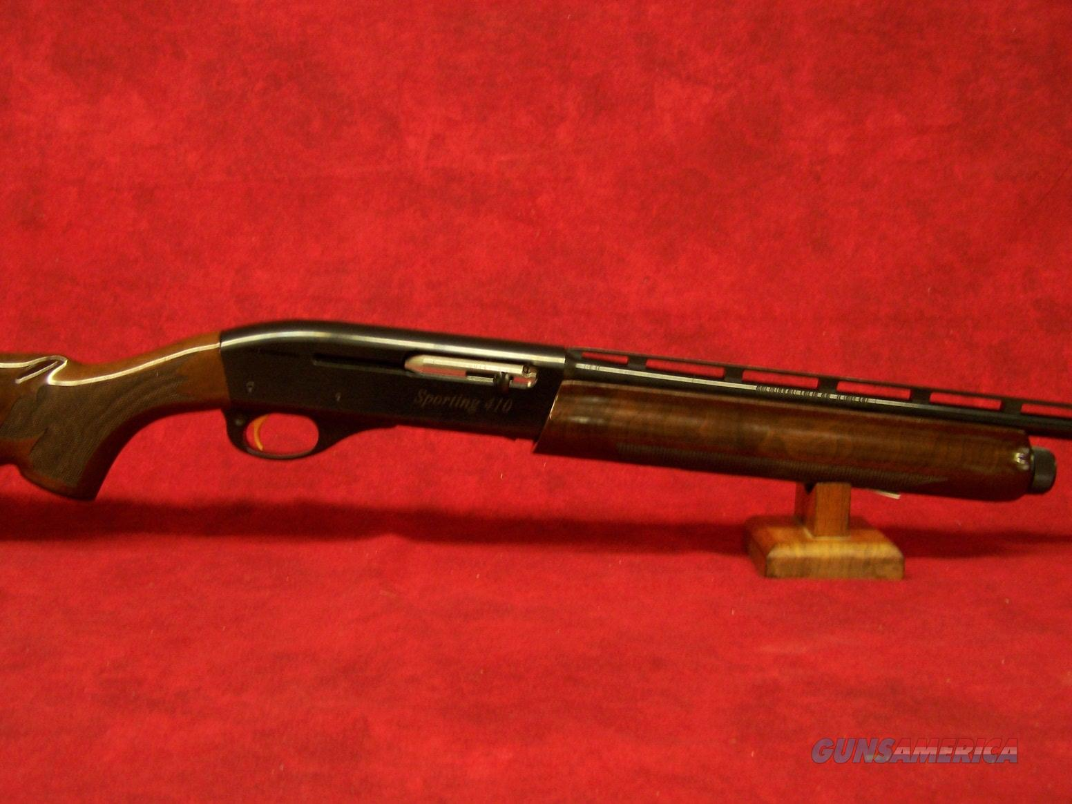 Remington Model 1100 Sporting .410 Gauge 3 Inch Chamber 27 Inch Vent Rib Barrel Blue Finish American Walnut Stock (29549)  Guns > Shotguns > Remington Shotguns  > Autoloaders > Hunting
