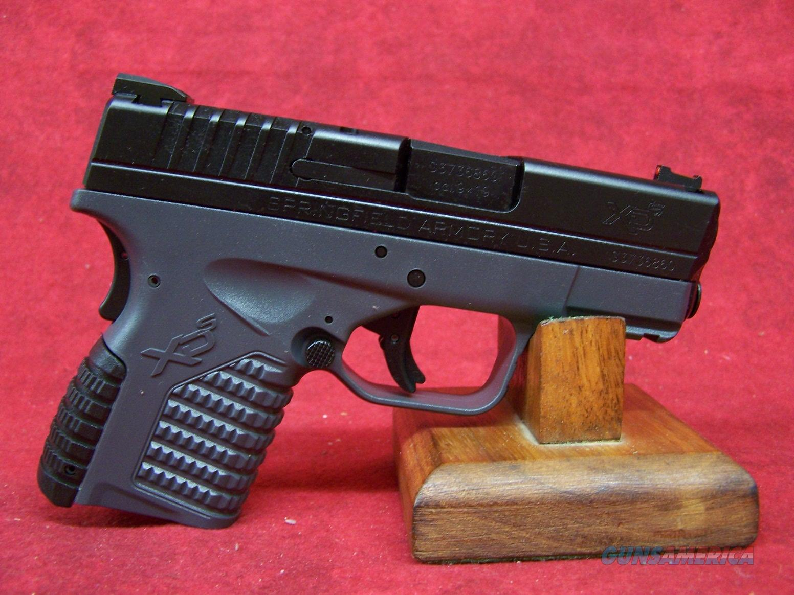 Springfield XDS 3.3 Single Stack 9mm 3.3 Inch Barrel (XDS9339YE)  Guns > Pistols > Springfield Armory Pistols > XD-S