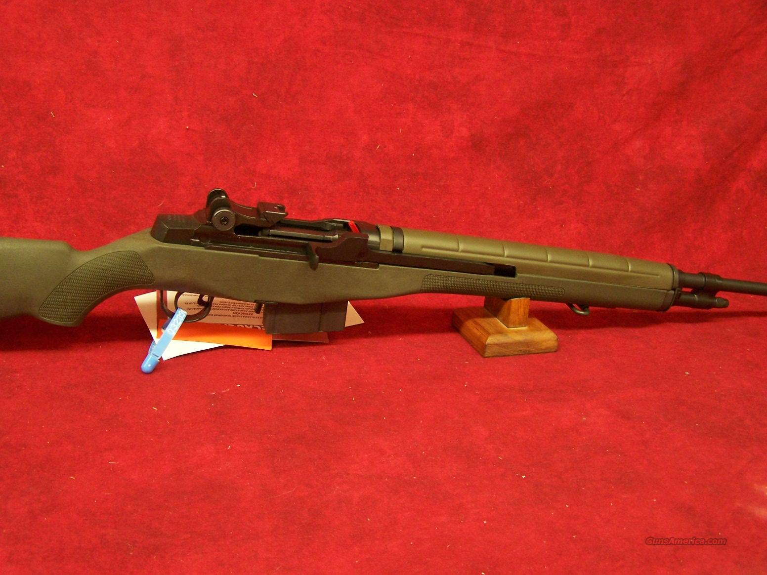 Springfield Armory Loaded M1A with National Match Barrel .308 7.62 NATO Green synthetic stock blue barrel(MA9229)  Guns > Rifles > Springfield Armory Rifles > M1A/M14