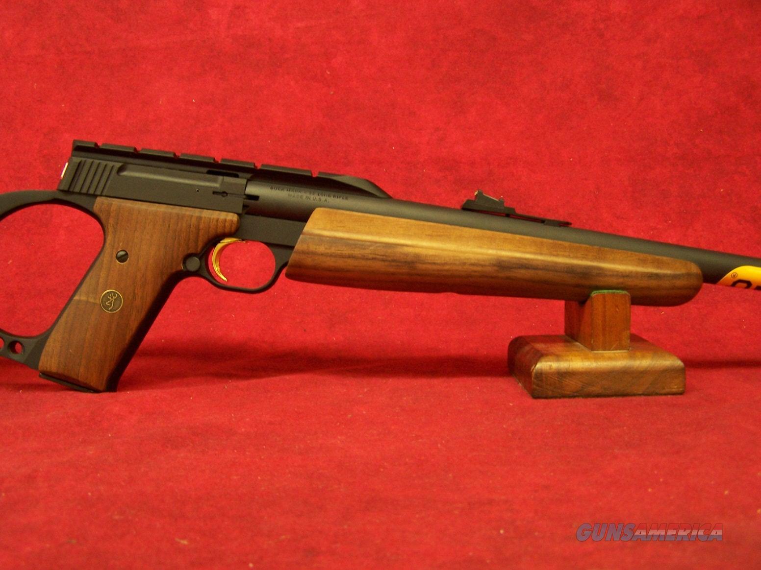 """Browning Buck Mark Sporter Rifle .22LR Walnut stock 18"""" Tapered Barrel (021026102)  Guns > Rifles > Browning Rifles > Semi Auto > Hunting"""