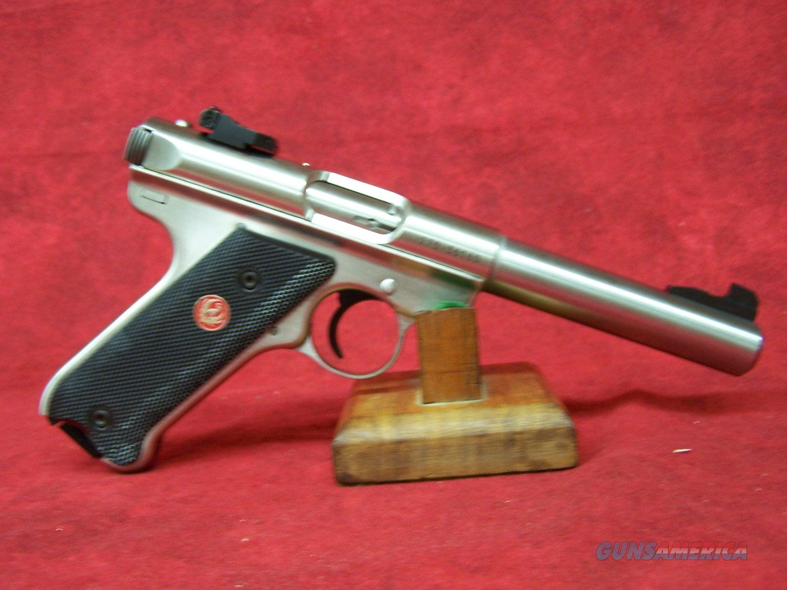 "Ruger Mark III 512 Target .22 Long Rifle 5.5"" Bull Barrel Stainless Steel Finish (10103)  Guns > Pistols > Ruger Semi-Auto Pistols > Mark I/II/III/IV Family"