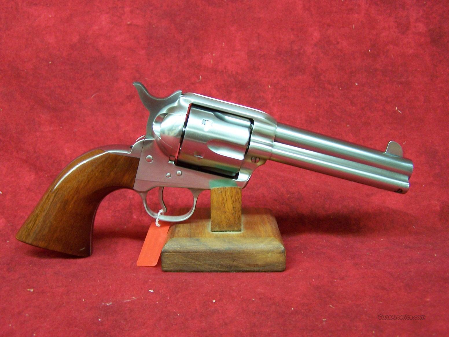 "Uberti 1873 Cattleman NM Stainless Steel .45 Colt 4 3/4"" (345009)  Guns > Pistols > Uberti Pistols > Ctg."