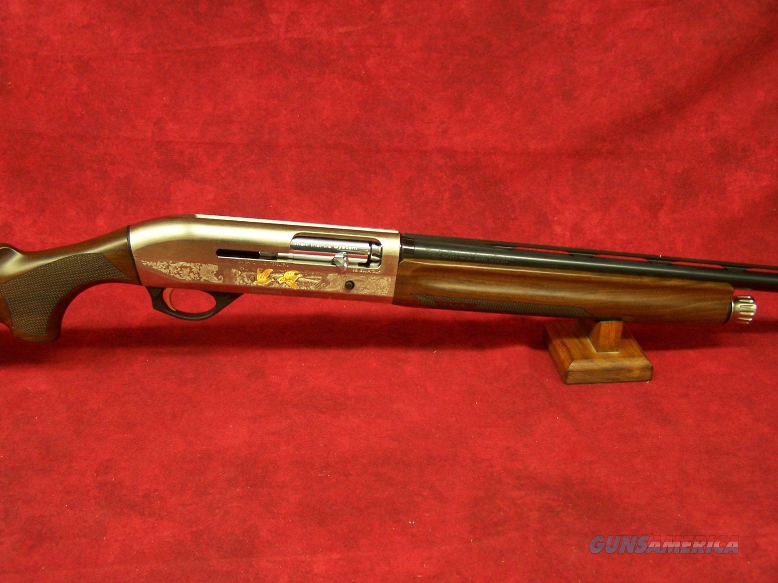 "Benelli Montefeltro Silver 20 Ga 3"" AA Grade Satin Walnut Nickel/Blue Etched Game Scene 26"" Barrel (10855)  Guns > Shotguns > Benelli Shotguns > Sporting"