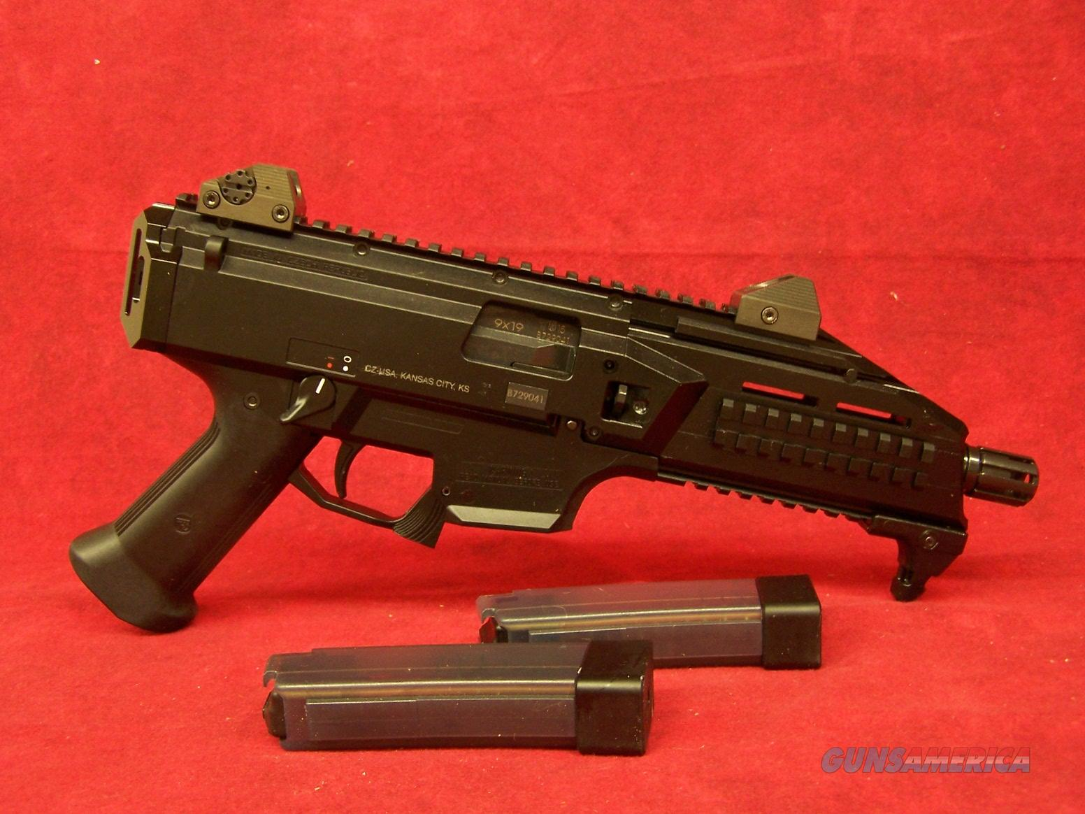 "CZ Scorpion EVO 3 S1 9mm 7.75"" Barrel Low-Pro Sights Pic Rail 20 Round (91350)  Guns > Pistols > CZ Pistols"