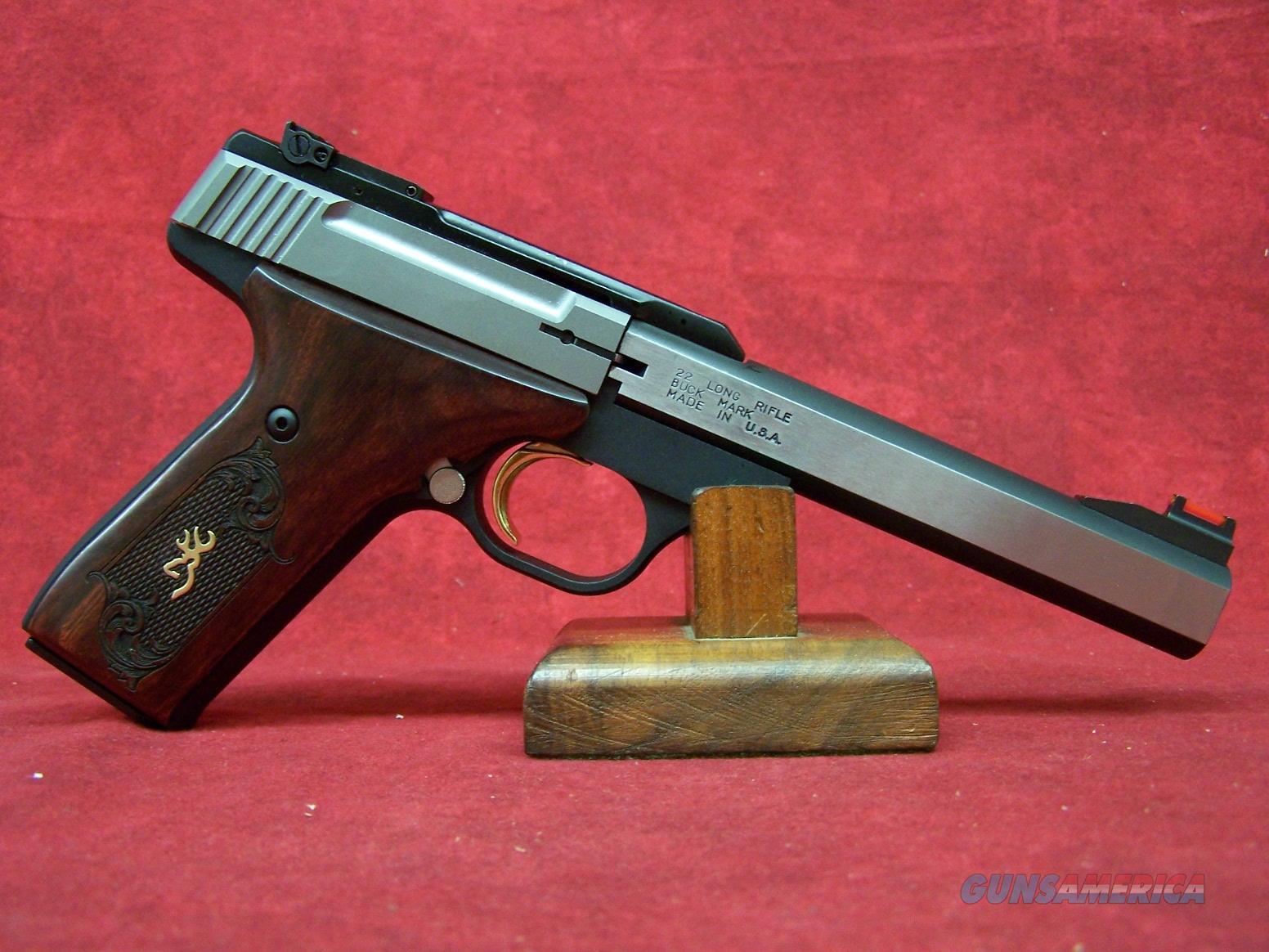 """Browning Buck Mark Medallion Rosewood .22LR 5.5"""" Barrel (051543490)  Guns > Pistols > Browning Pistols > Buckmark"""