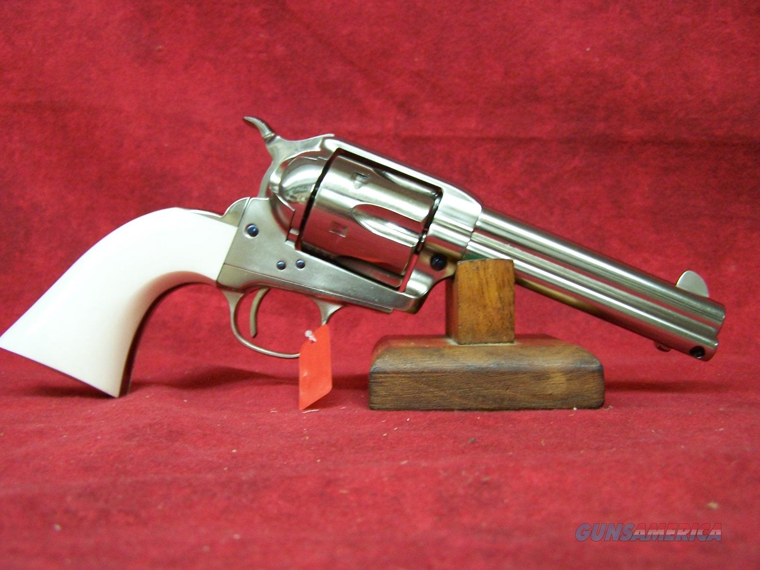 "Uberti Short Stroke SASS Pro Nickel Ivory Style grips .357 Mag  4.75"" Barrel (356N20)   Guns > Pistols > Uberti Pistols > Ctg."