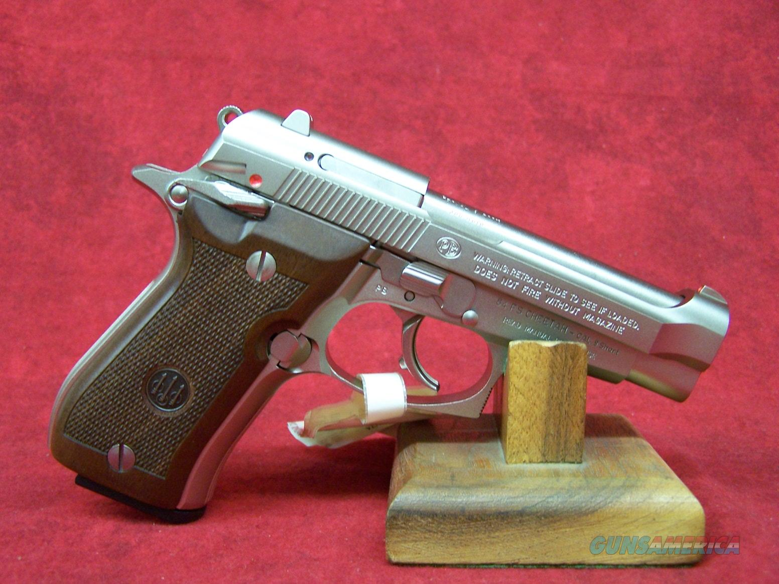 "BERETTA 84FS CHEETAH 380ACP NICKEL WOOD 3.8"" BARREL (J84F212M)  Guns > Pistols > Beretta Pistols > Cheetah Series > Model 84"