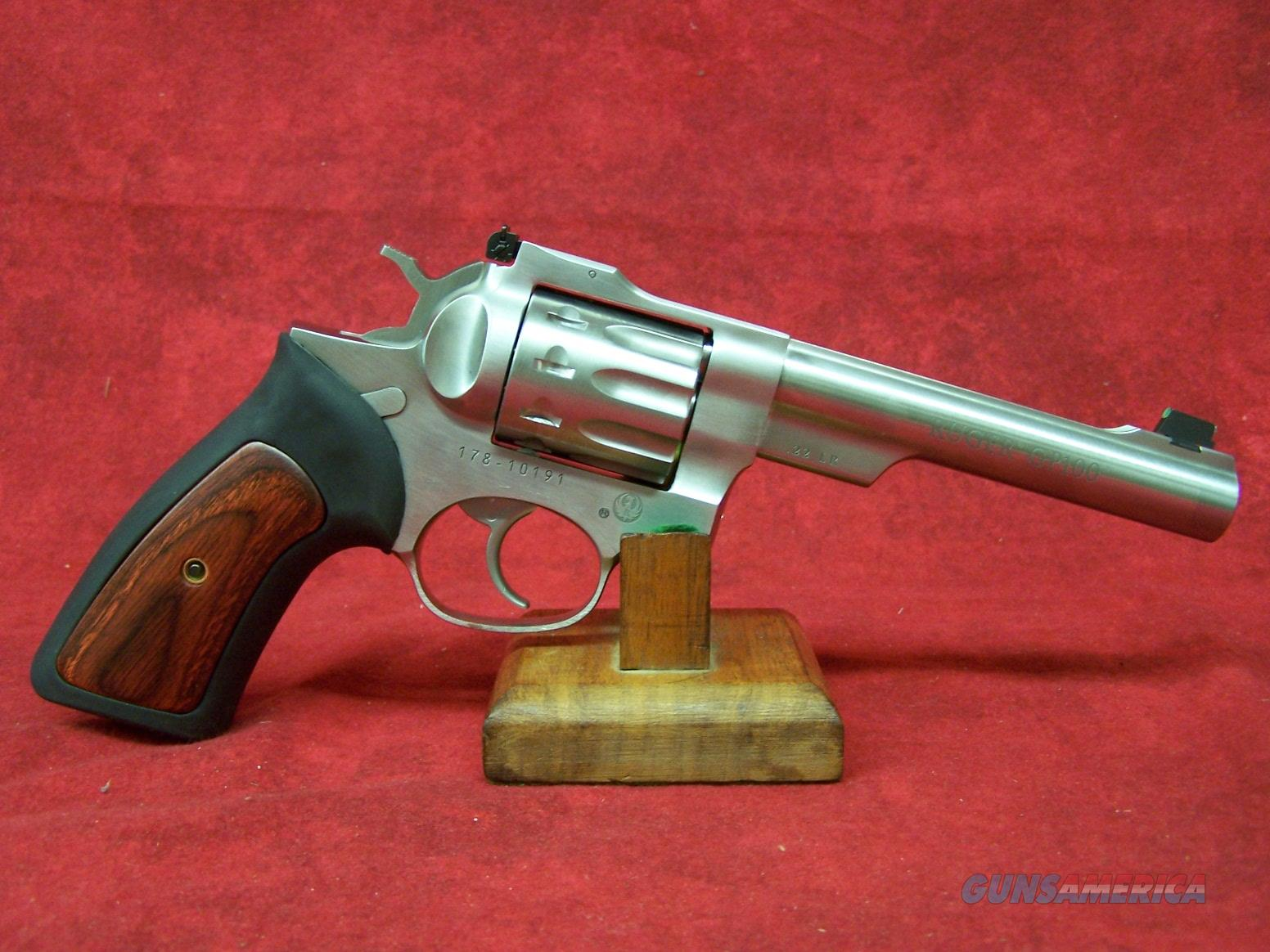 Ruger Model GP-100 Rimfire .22 Long Rifle 5.5 Inch Barrel Satin Stainless Finish (01757)  Guns > Pistols > Ruger Double Action Revolver > GP100