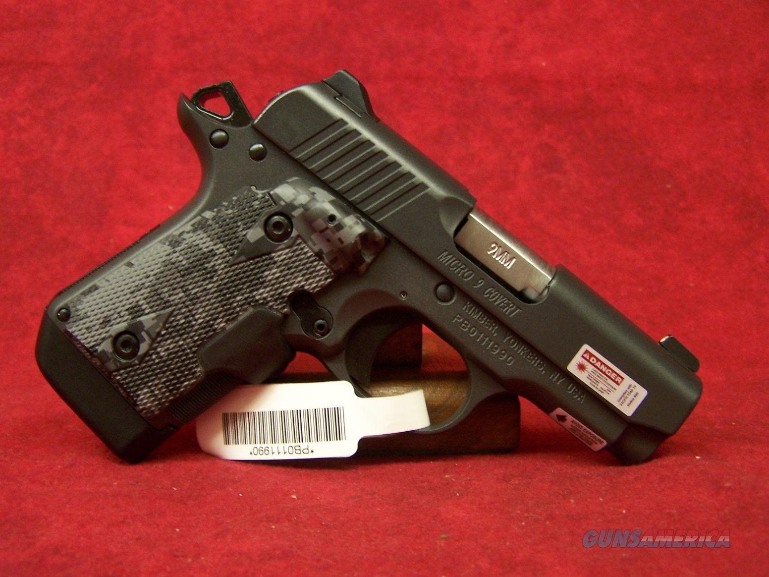 Kimber Micro 9 Covert 9mm laser grip and Night sights (33187)  Guns > Pistols > Kimber of America Pistols > Micro 9