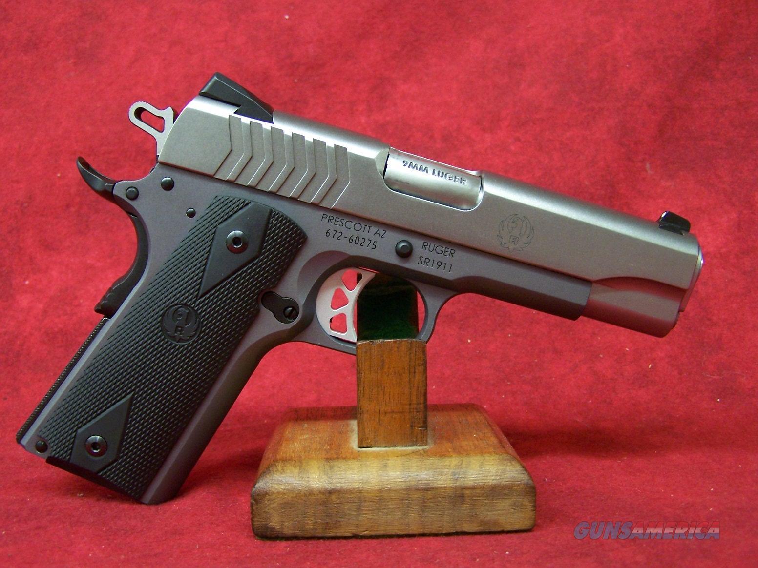"""Ruger SR1911 9mm 4.25"""" Barrel (06722)  Guns > Pistols > Ruger Semi-Auto Pistols > 1911"""