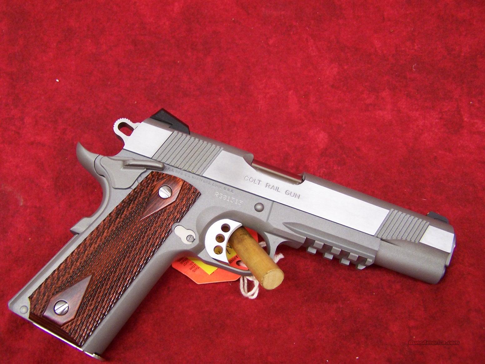 "Colt Government 1911 ""Rail Gun"" SS .45 ACP(01070RG)  Guns > Pistols > Colt Automatic Pistols (1911 & Var)"