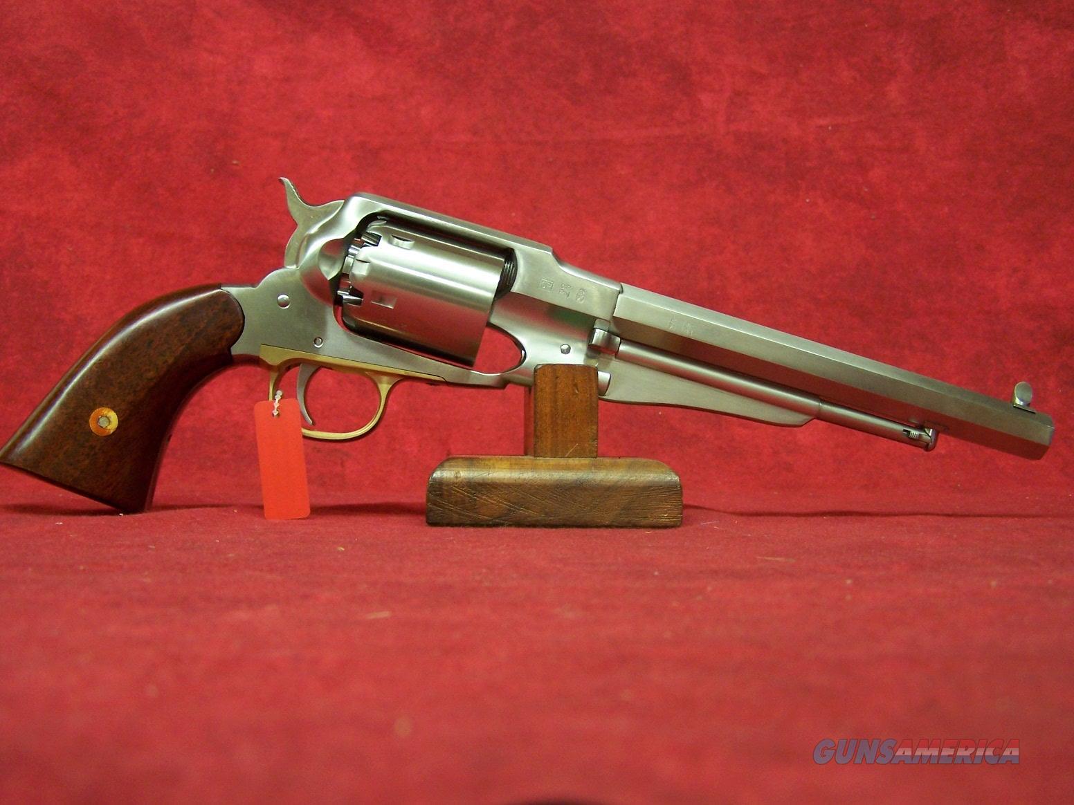 "Uberti 1858 New Army Stainless Steel Black Powder .44 Caliber 8"" Barrel (341020)  Guns > Pistols > Uberti Pistols > Percussion"