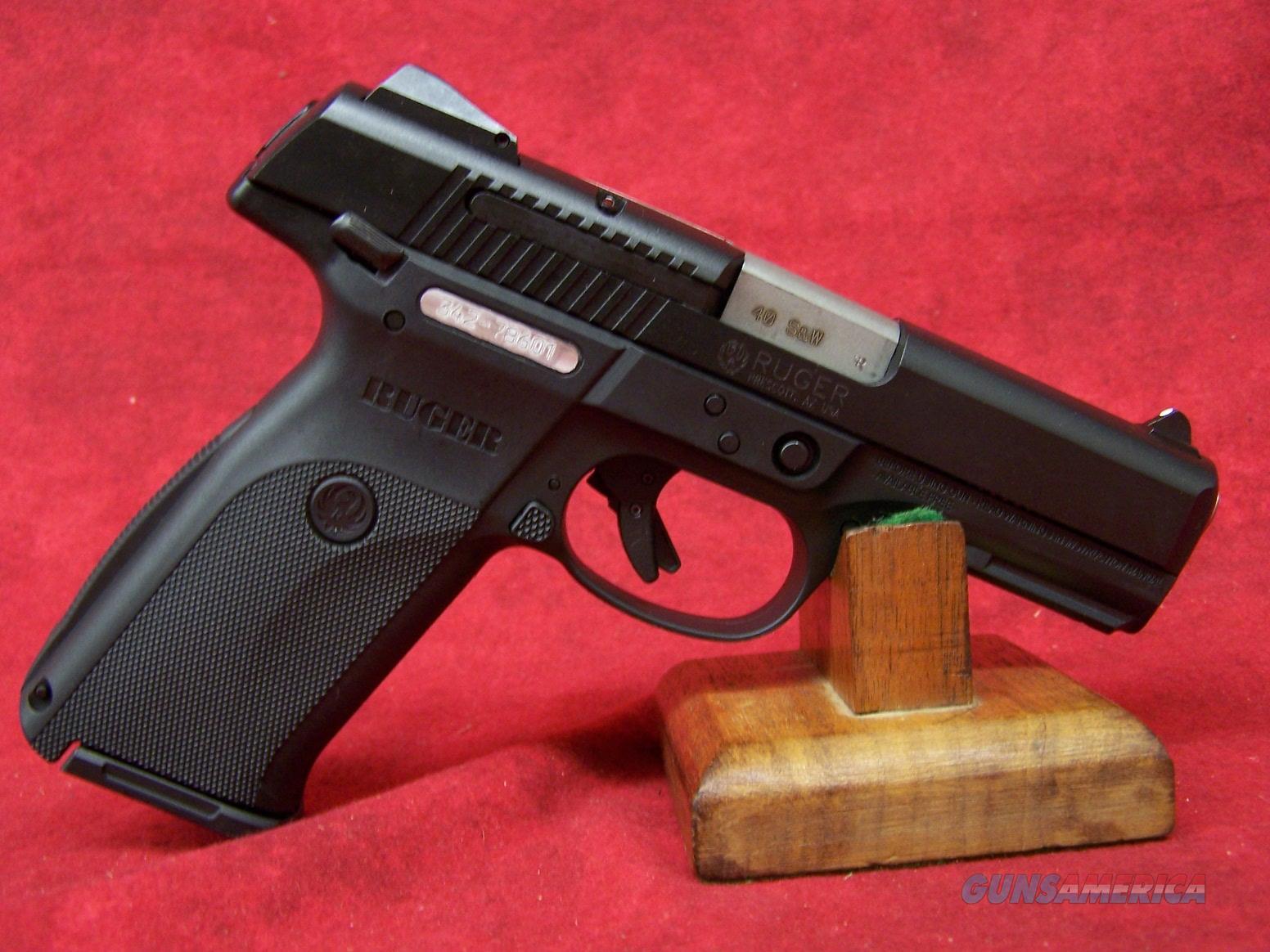 Ruger SR40 .40 S&W 4.14 Inch Barrel Black Nitride Slide Black Frame (03471)  Guns > Pistols > Ruger Semi-Auto Pistols > SR Family > SR40