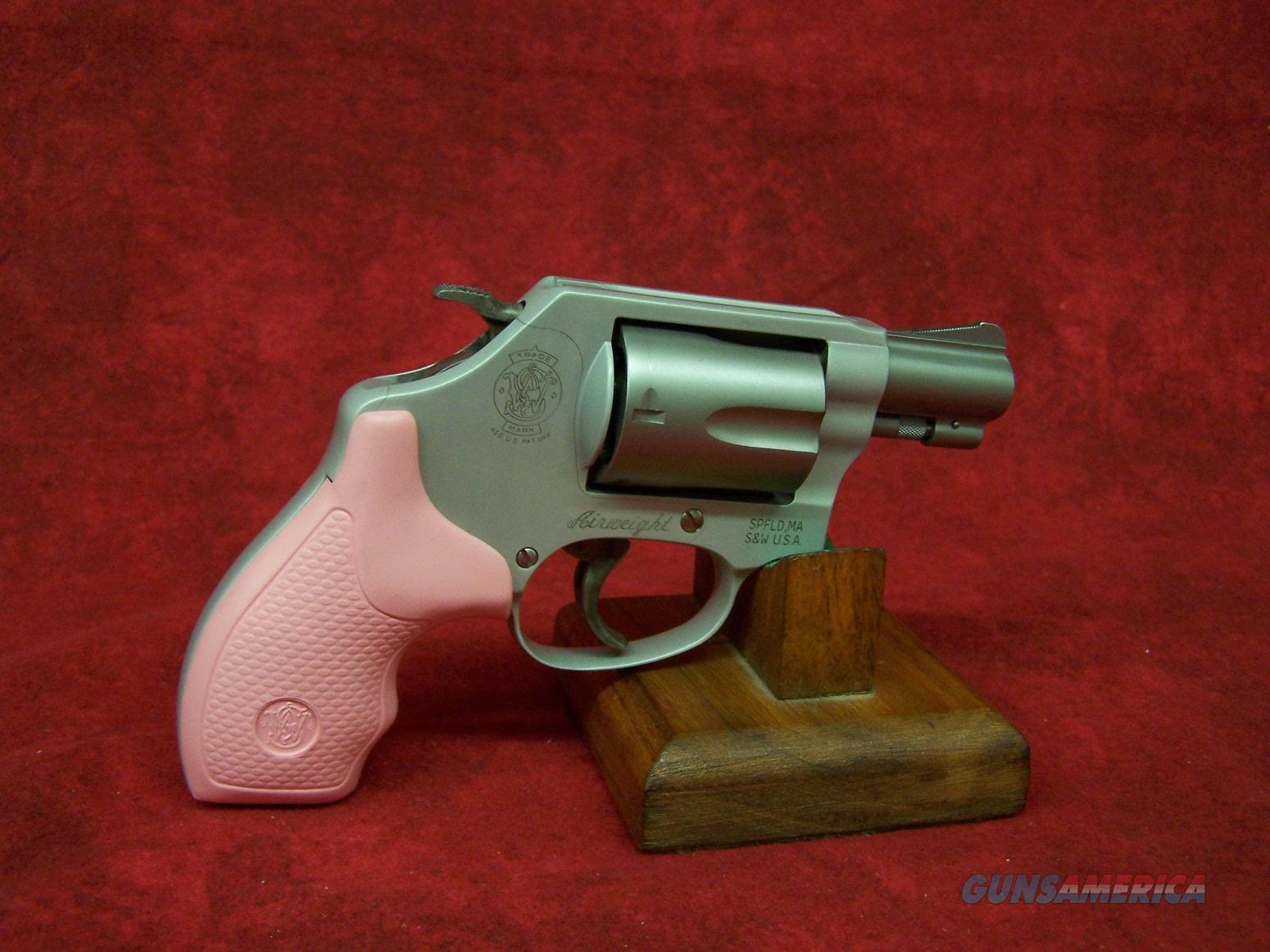 Smith & Wesson Model 637 .38 Special +P 1.875 Inch Barrel SS Matte Finish Pink Grip (150467)  Guns > Pistols > Smith & Wesson Revolvers > Pocket Pistols