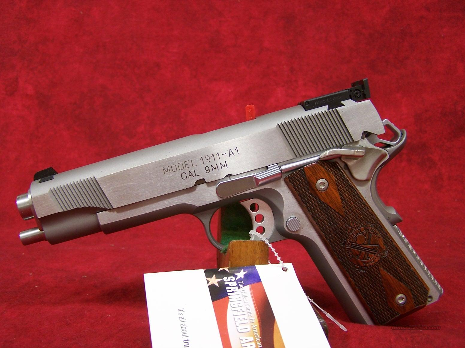 Springfield Armory Stainless Full Size A-1 Target 9mm(PI9134LP).    Guns > Pistols > Springfield Armory Pistols > 1911 Type