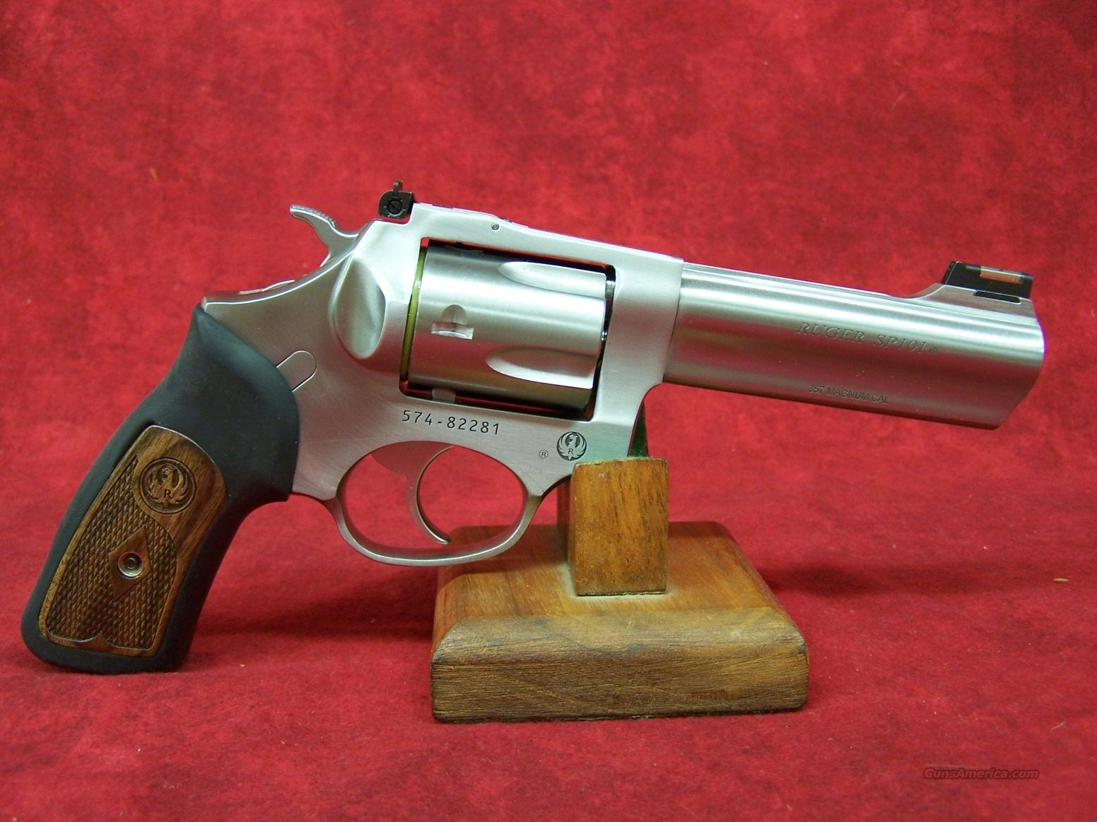 Ruger SP101 Revolver .357 mag 4.20 S/S FO Dbl Action 5 Shot(5771, KSP-341X)  Guns > Pistols > Ruger Double Action Revolver > SP101 Type