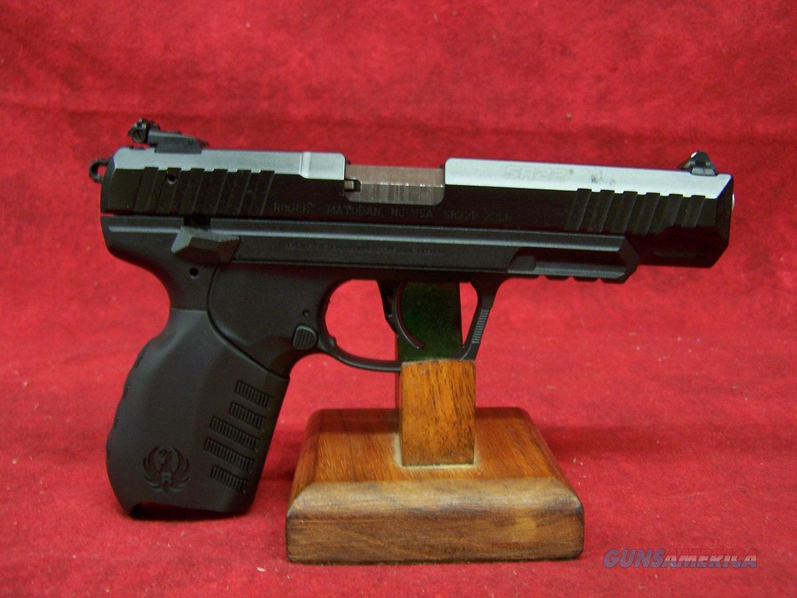 Ruger SR22 Long Slide .22 Long Rifle 4.5 Inch Barrel (03620)  Guns > Pistols > Ruger Semi-Auto Pistols > SR Family > SR22