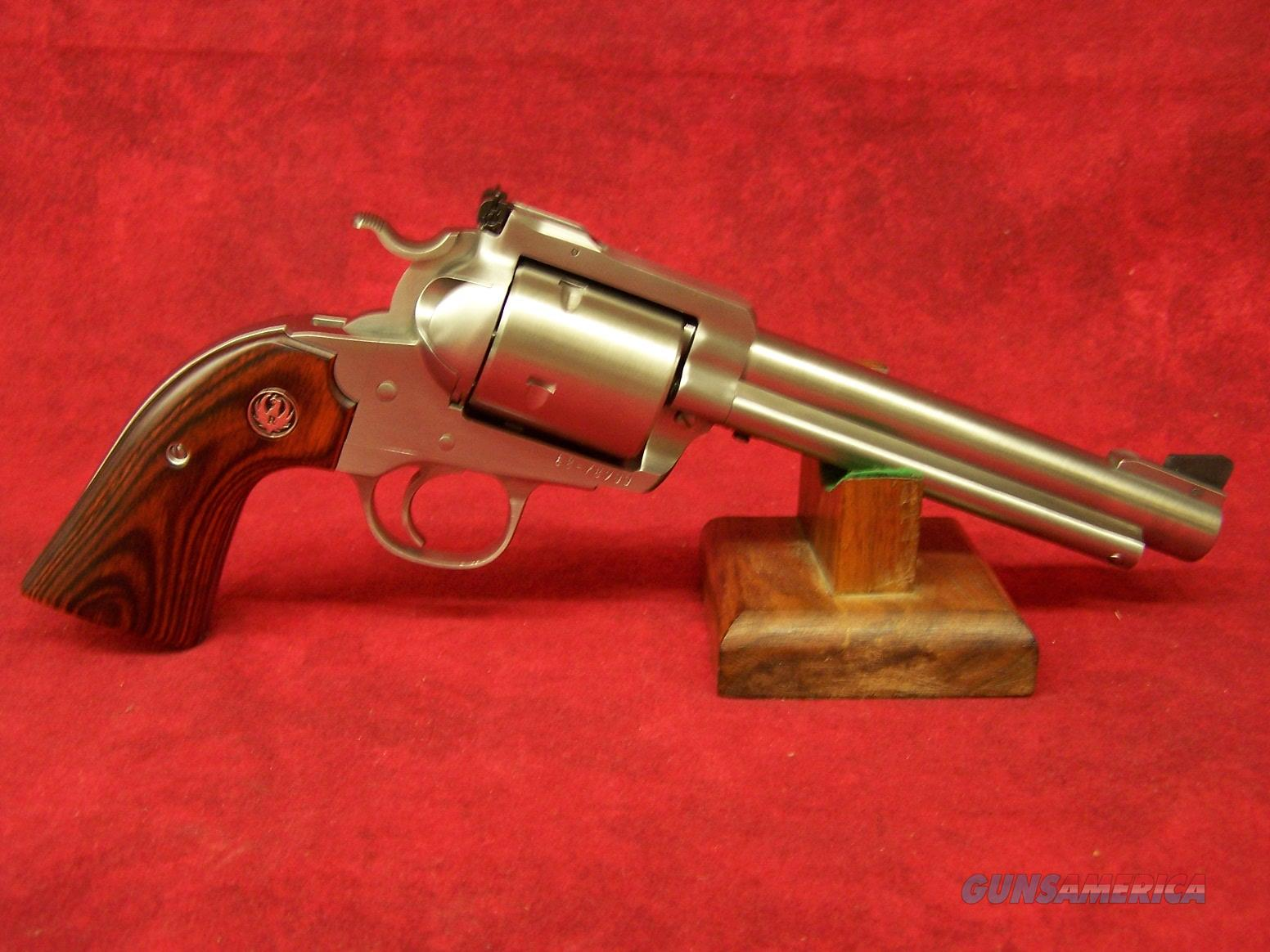 "RUGER SUPER BLACKHAWK BISLEY 454 CASULL SS 6.5"" WOOD GRIPS / UNFLUTED CYL (00871)  Guns > Pistols > Ruger Single Action Revolvers > Blackhawk Type"