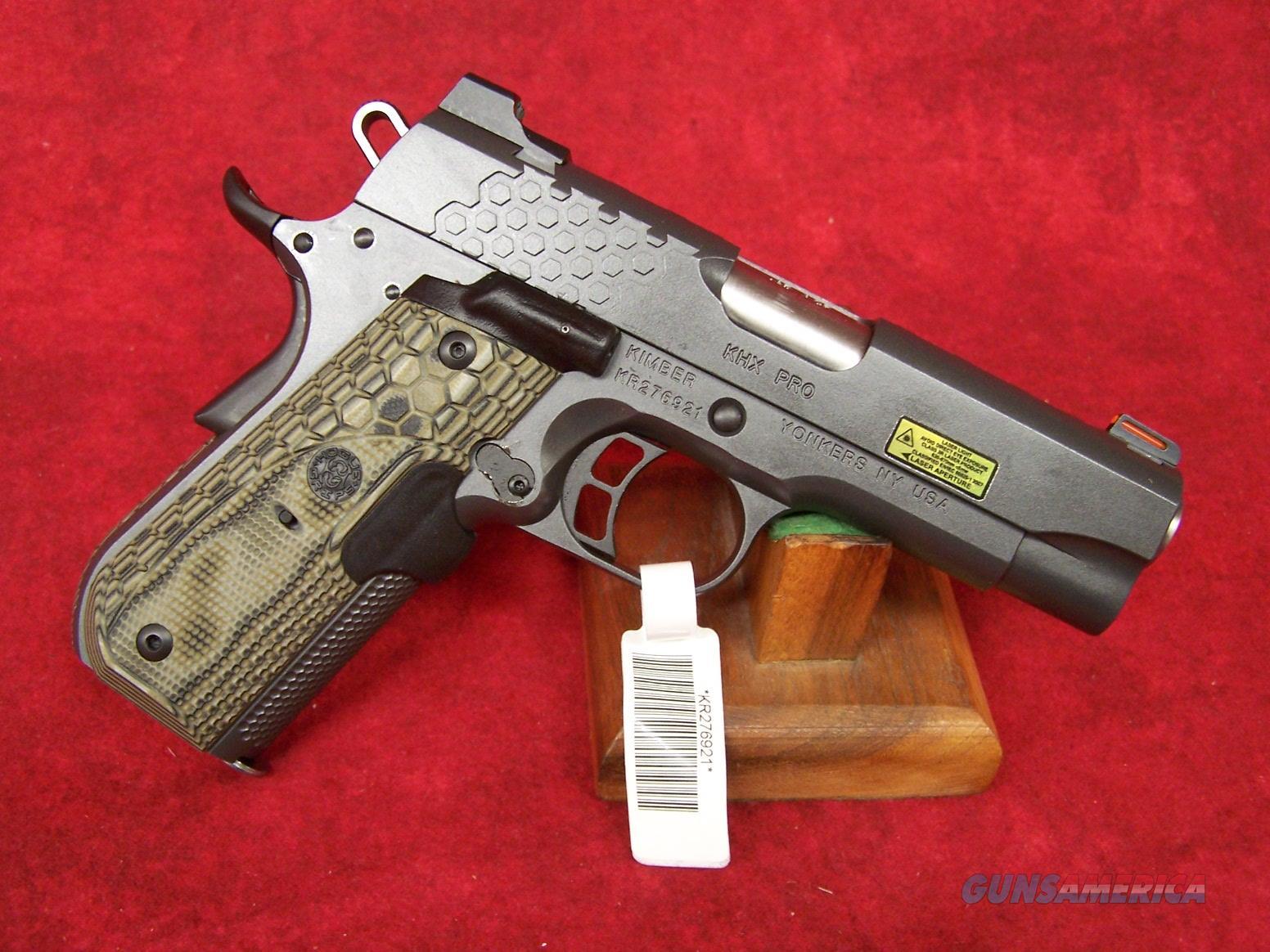 "Kimber KHX Pro Laser Grip .45 ACP 4"" Barrel (30361)  Guns > Pistols > Kimber of America Pistols > 1911"