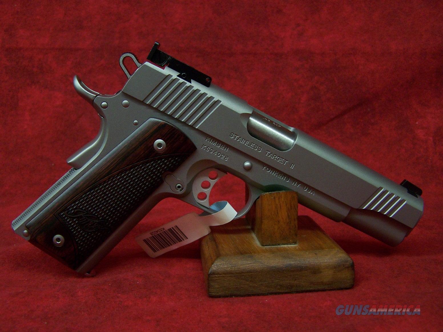 Kimber Stainless Target II .45 ACP (2016) (32325)  Guns > Pistols > Kimber of America Pistols