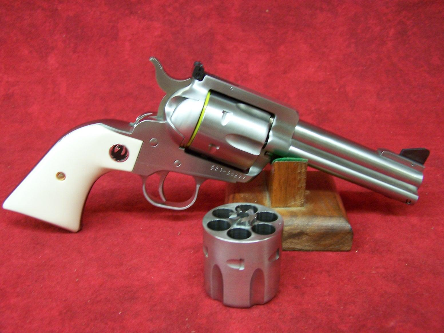 "RUGER BLACKHAWK FLATTOP 45LC/45A SS/IVORY 4-5/8""  .45 ACP (05243)  Guns > Pistols > Ruger Single Action Revolvers > Blackhawk Type"