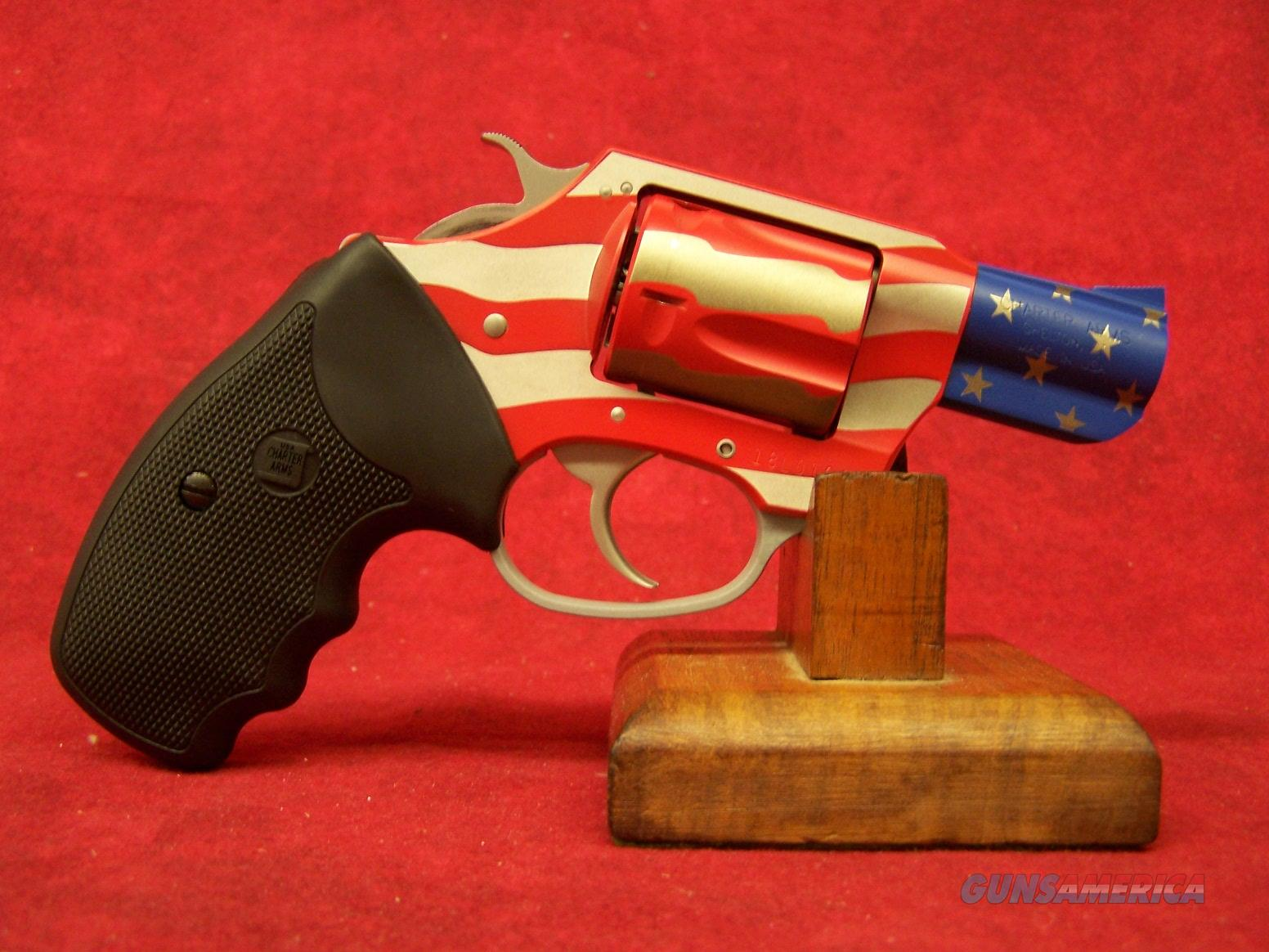 "Charter Arms Undercover 38 special 2"" OLD GLORY RED WHITE BLUE (23872)  Guns > Pistols > Charter Arms Revolvers"