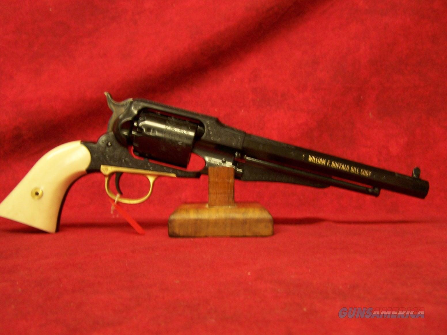 "Uberti 1858 New Army Buffalo Bill Commemorative .44 cal. 8"" Barrel 1 of 500 (3410BB)  Guns > Pistols > Uberti Pistols > Percussion"