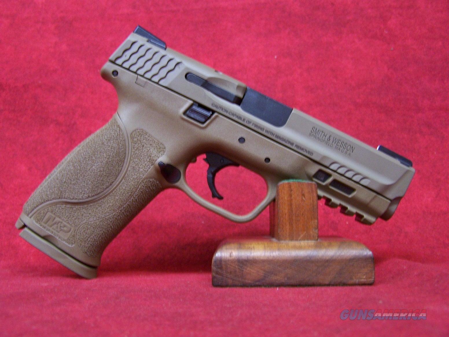 "Smith and Wesson M&P 9 M2.0 9MM FDE 4.25"" Barrel Truglo TFX Sights(11767)  Guns > Pistols > Smith & Wesson Pistols - Autos > Polymer Frame"