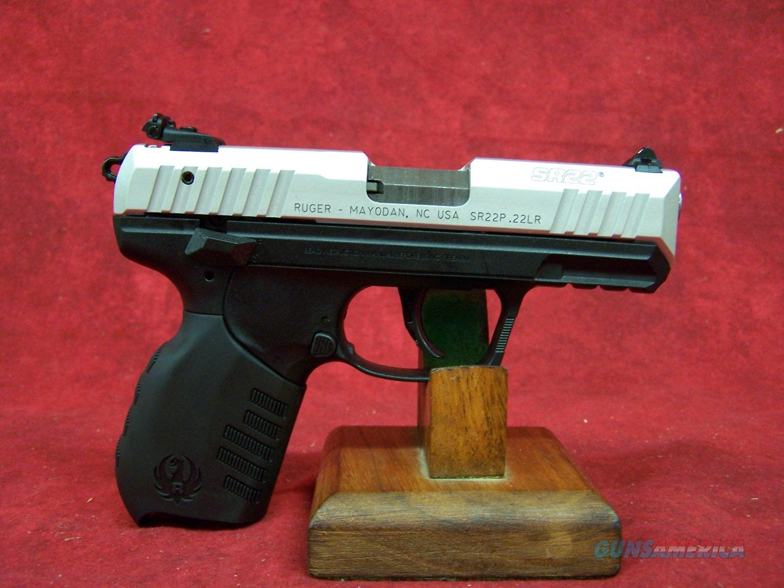 "Ruger SR22PS 22lr 3.5"" Barrel Silver Anodize Slide Finish (03607)  Guns > Pistols > Ruger Semi-Auto Pistols > SR Family > SR22"