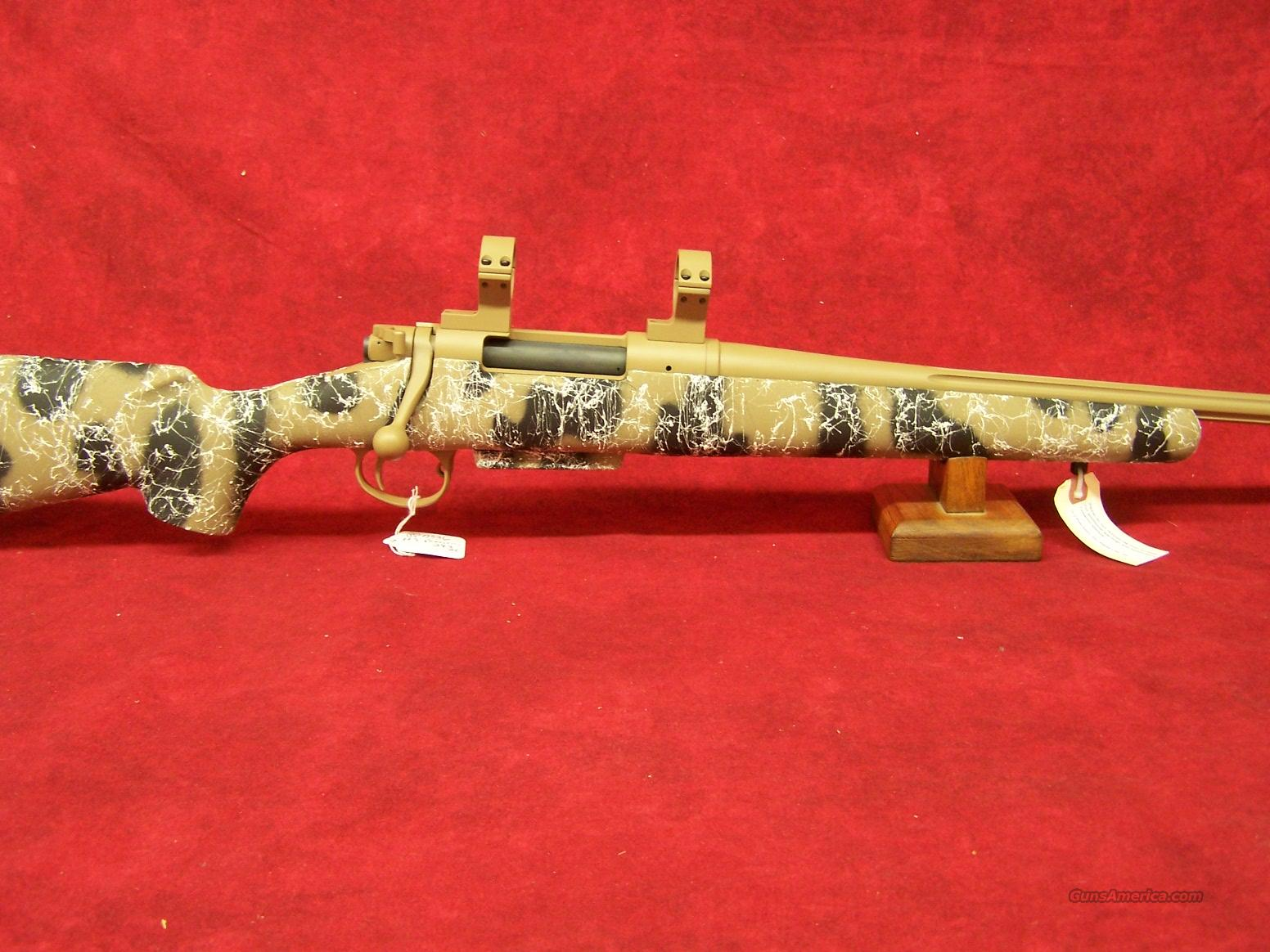 """H-S PRECISION Pro-Series 2000 SPL .243 Win 24"""" Fluted tan cerekote barrel, Black and Tan camo stock with white webbing hs Precision  Guns > Rifles > HS Precision Rifles"""