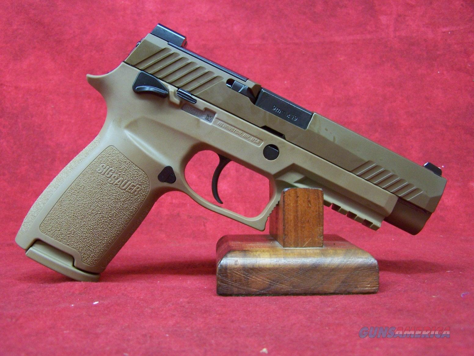 "Sig Sauer P320 M17 Coyote PVD 9mm Luger 4.7"" Barrel (320F-9-M17-MS)  Guns > Pistols > Sig - Sauer/Sigarms Pistols > P320"