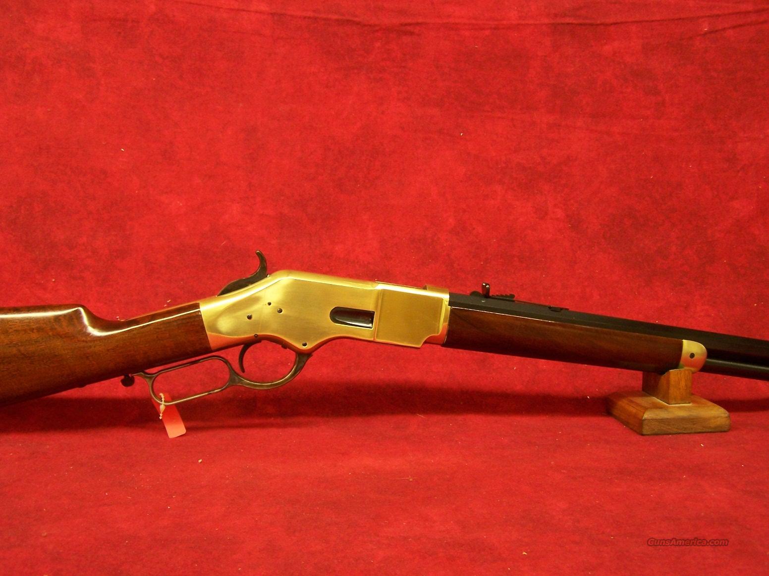 "Uberti 1866 Yellowboy Short Rifle Brass 20"" Oct .45 Colt (342340)  Guns > Rifles > Uberti Rifles > Lever Action"