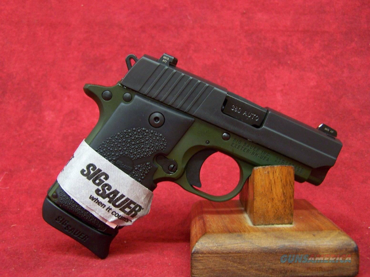 SIG SAUER P238 ARMY 380ACP ARMY GREEN NIT/GRN SLITE (238-380-AGF)  Guns > Pistols > Sig - Sauer/Sigarms Pistols > P238